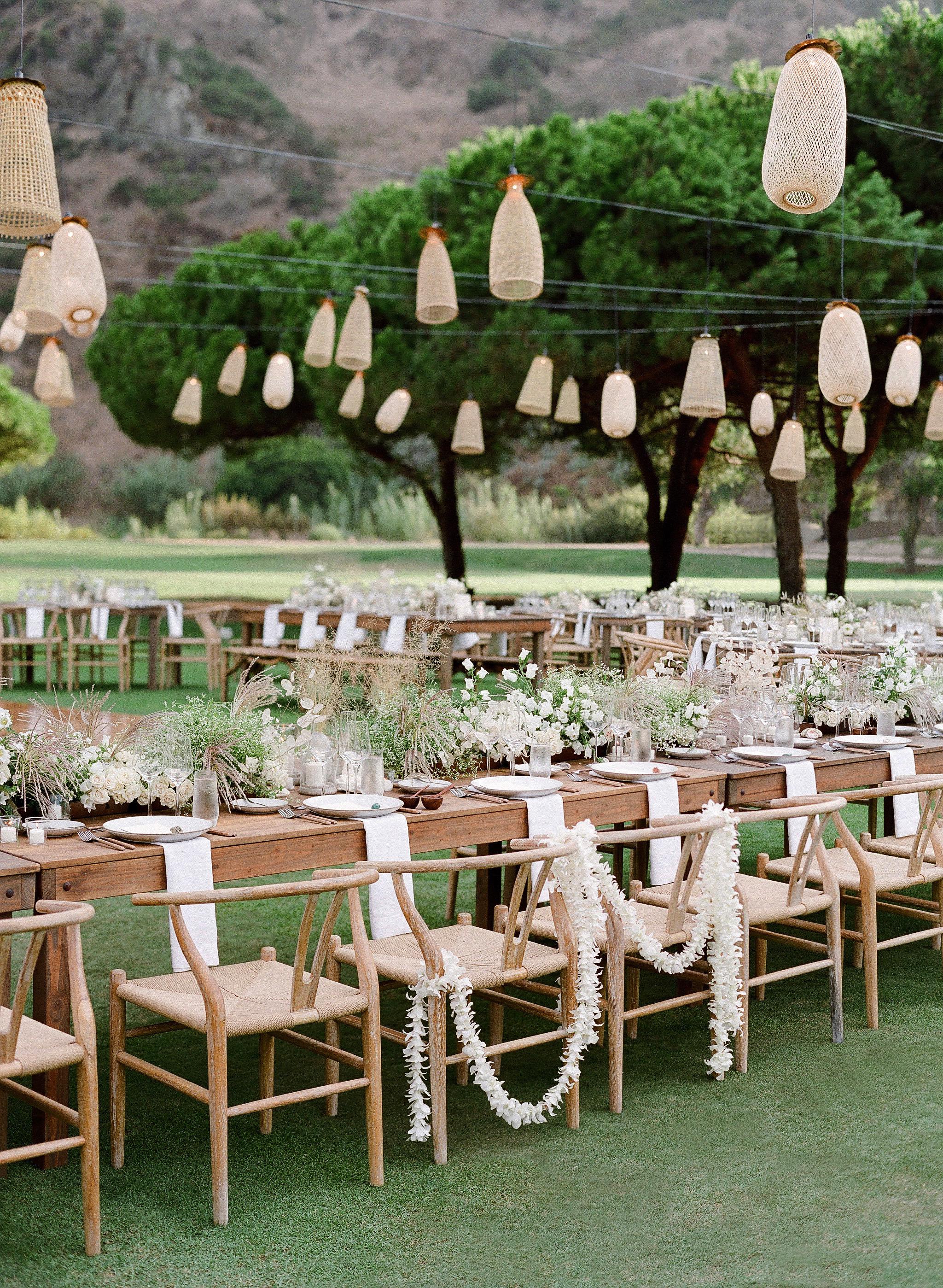 alex drew california wedding reception tables lanterns