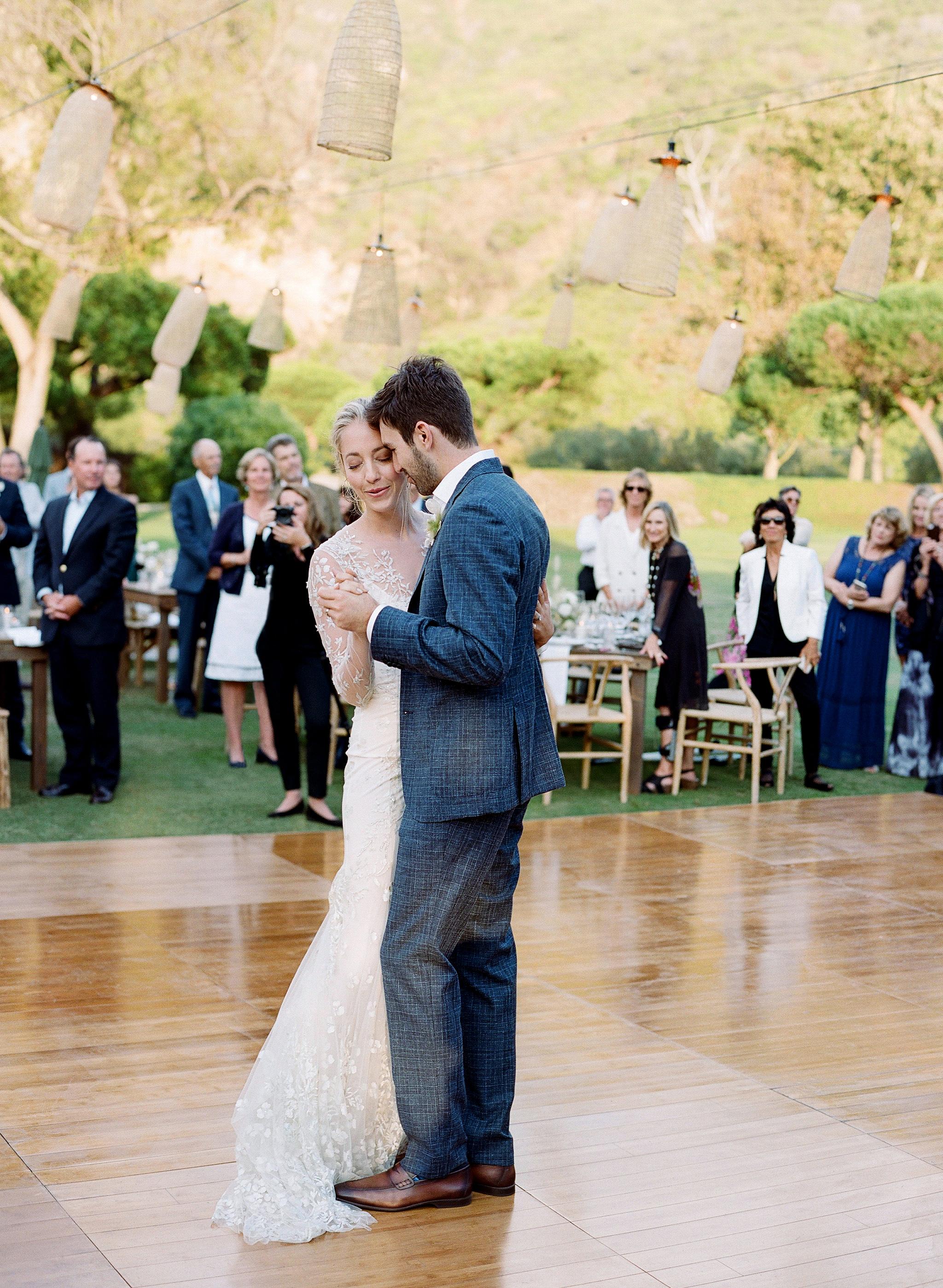 alex drew california wedding couple first dance outdoor dance floor