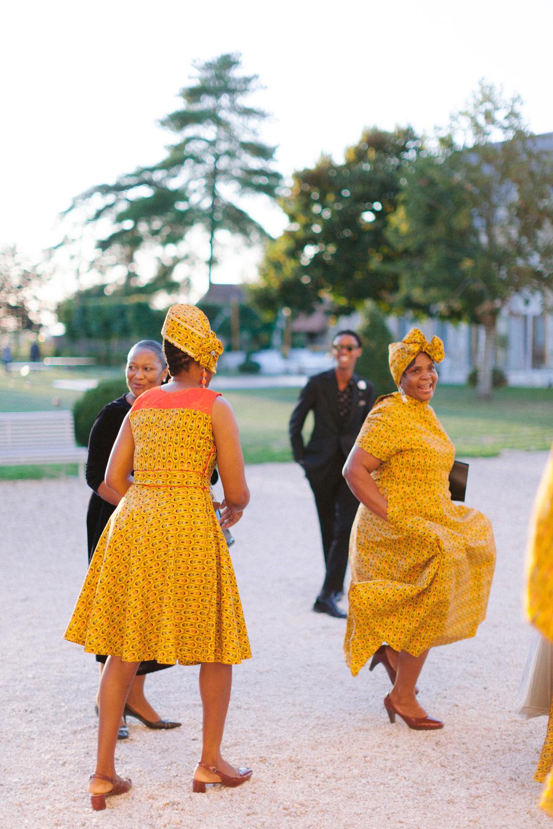 guests wearing vibrant cultural dressings