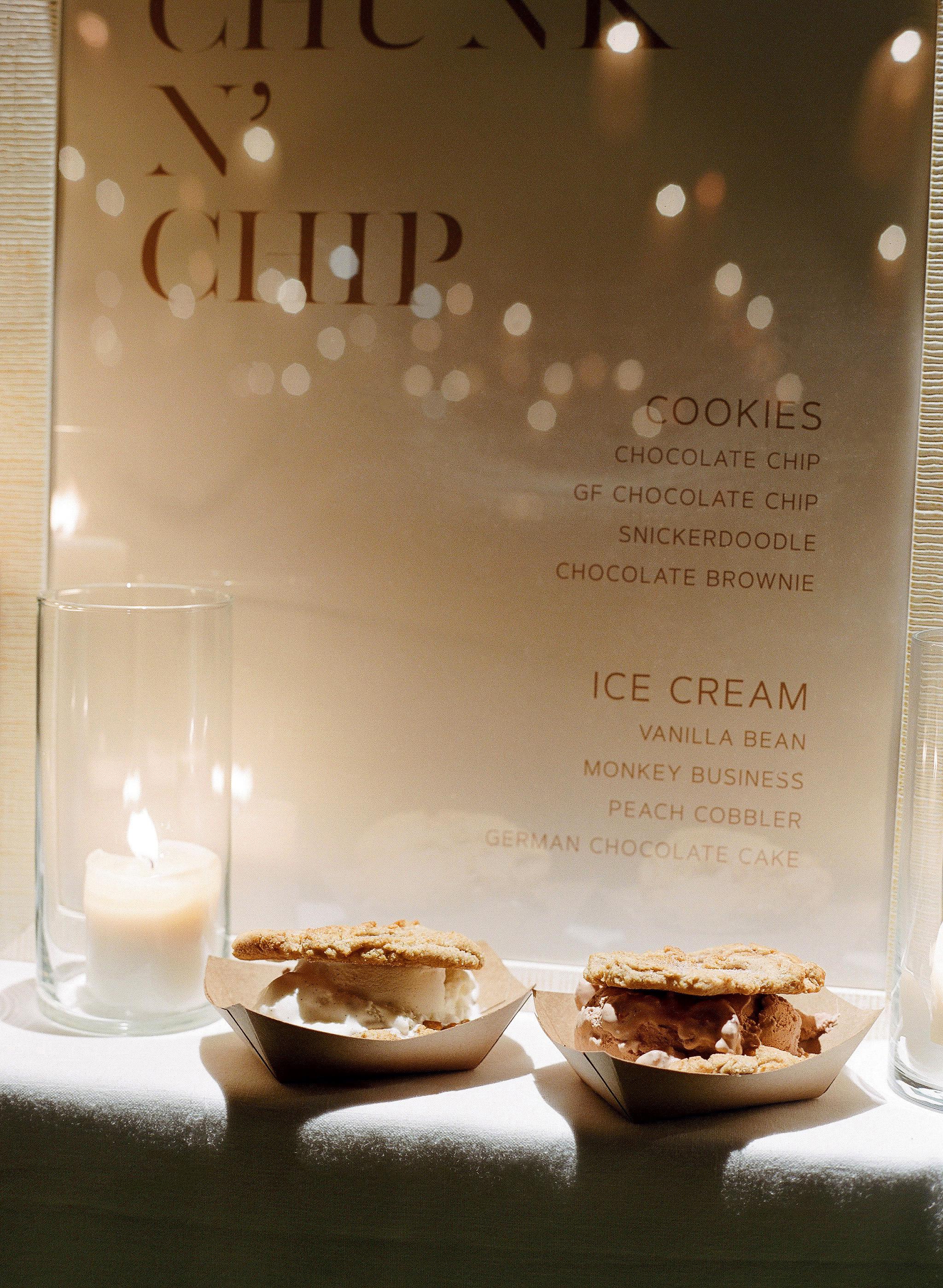 alex drew california wedding ice cream sandwiches and twinkle lights