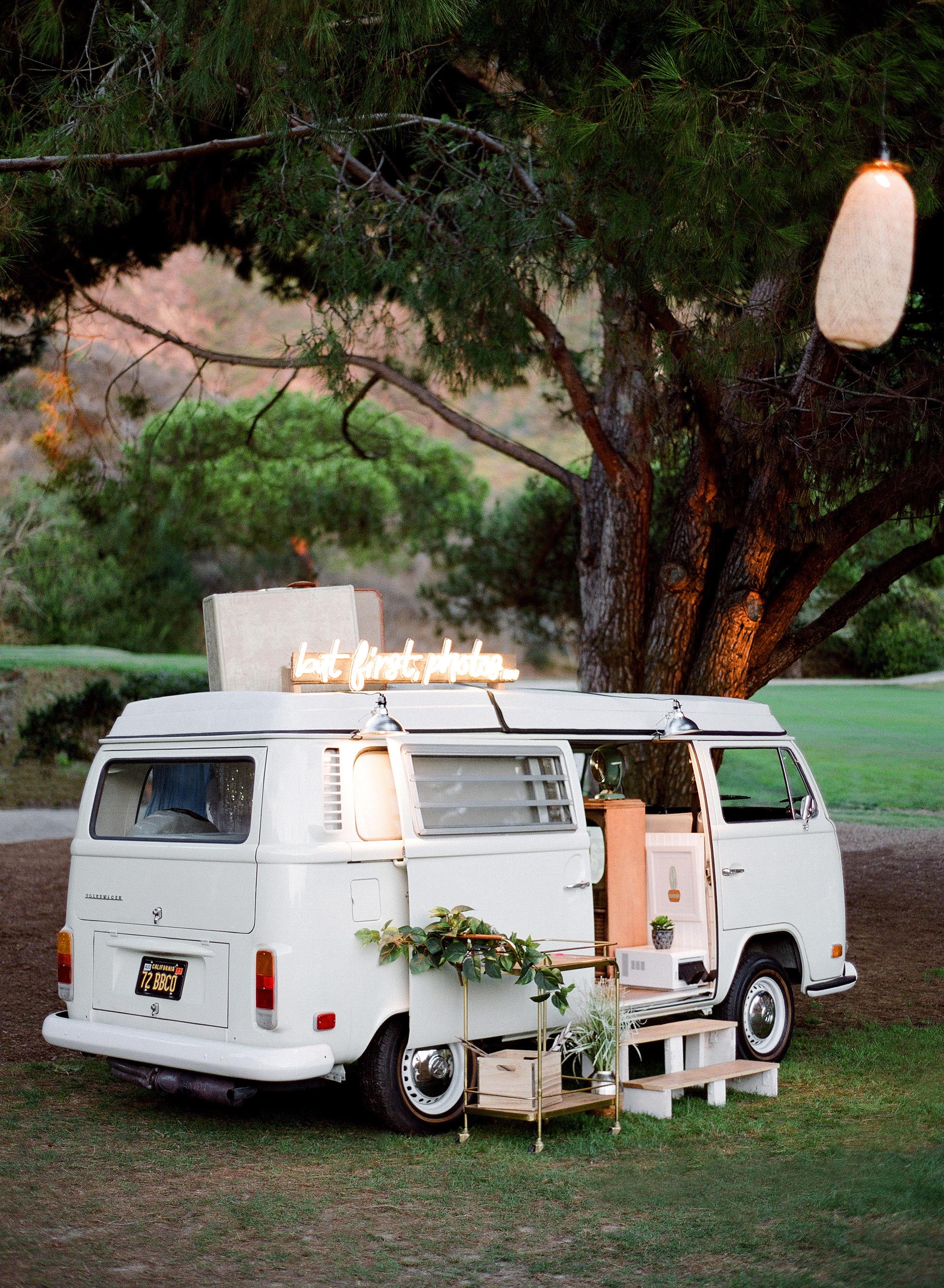 alex drew california wedding photobooth van