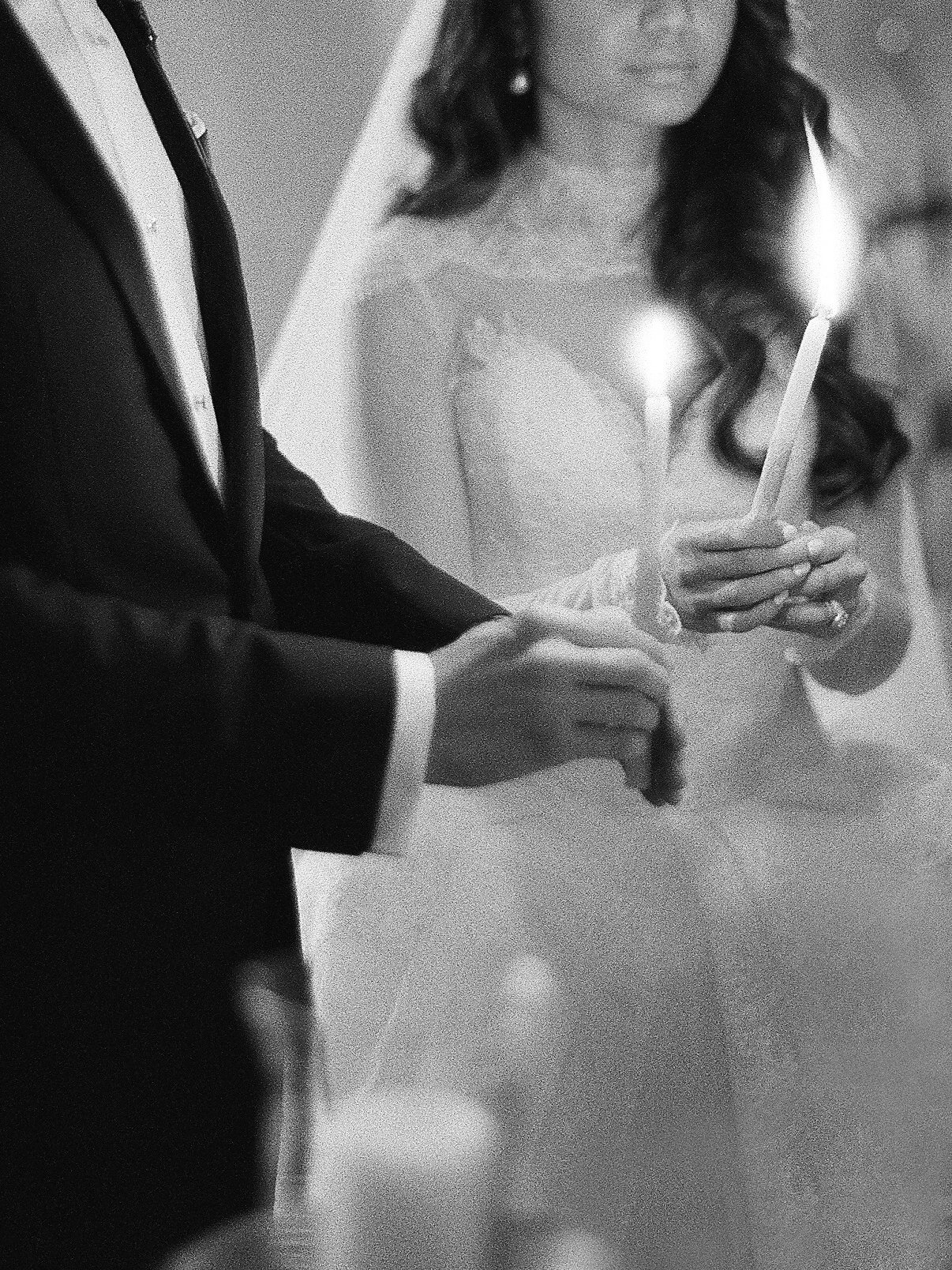 wedding ceremony unity candle with bride and groom