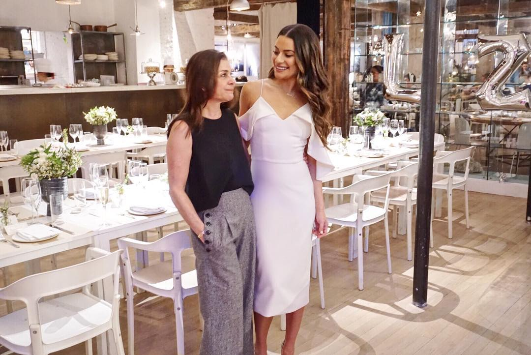 lea michele and mom bridal shower