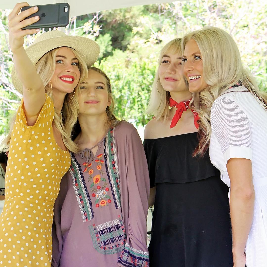 julianne hough bridal shower selfie