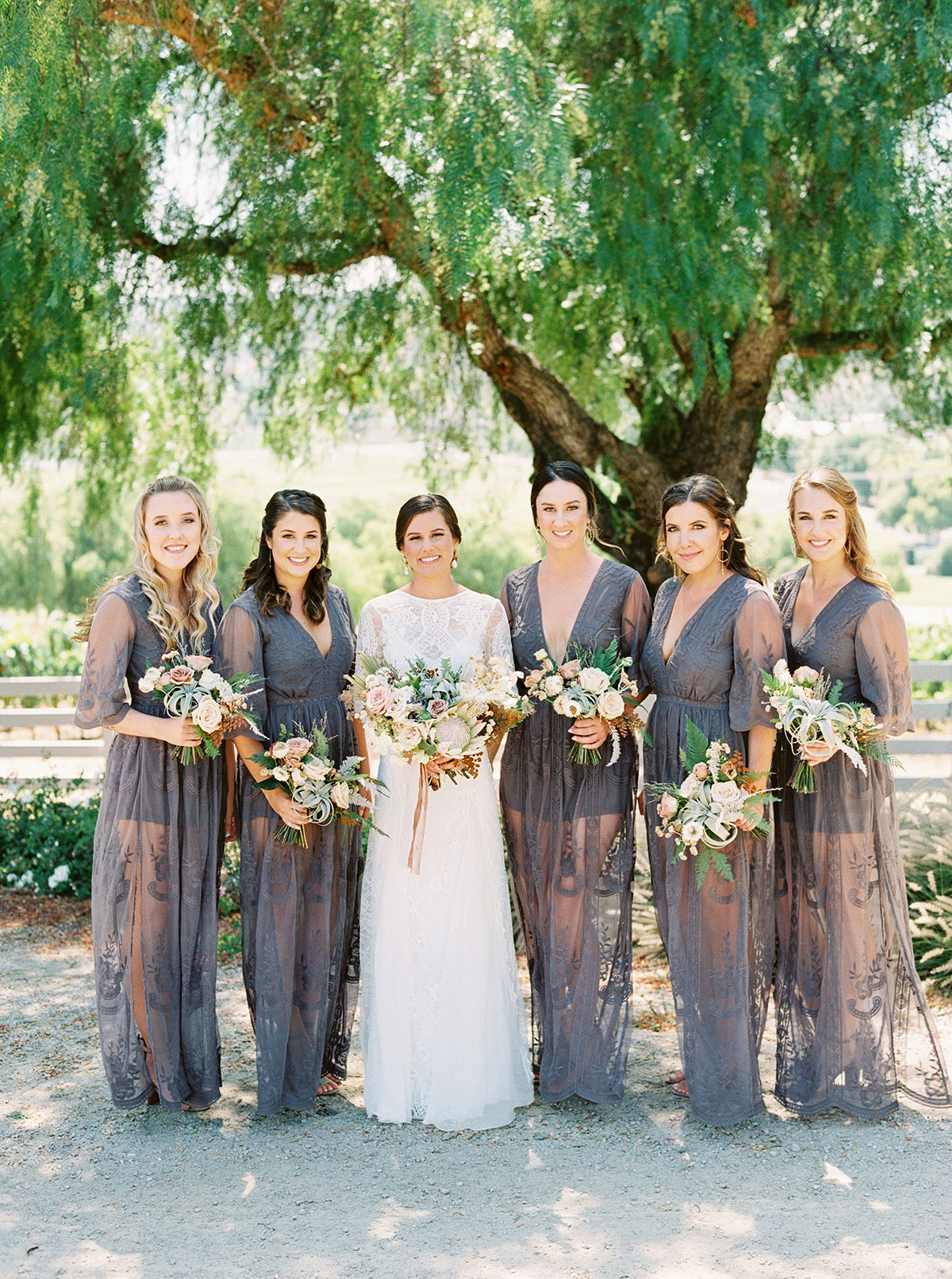 jena donny wedding bridesmaids and bride