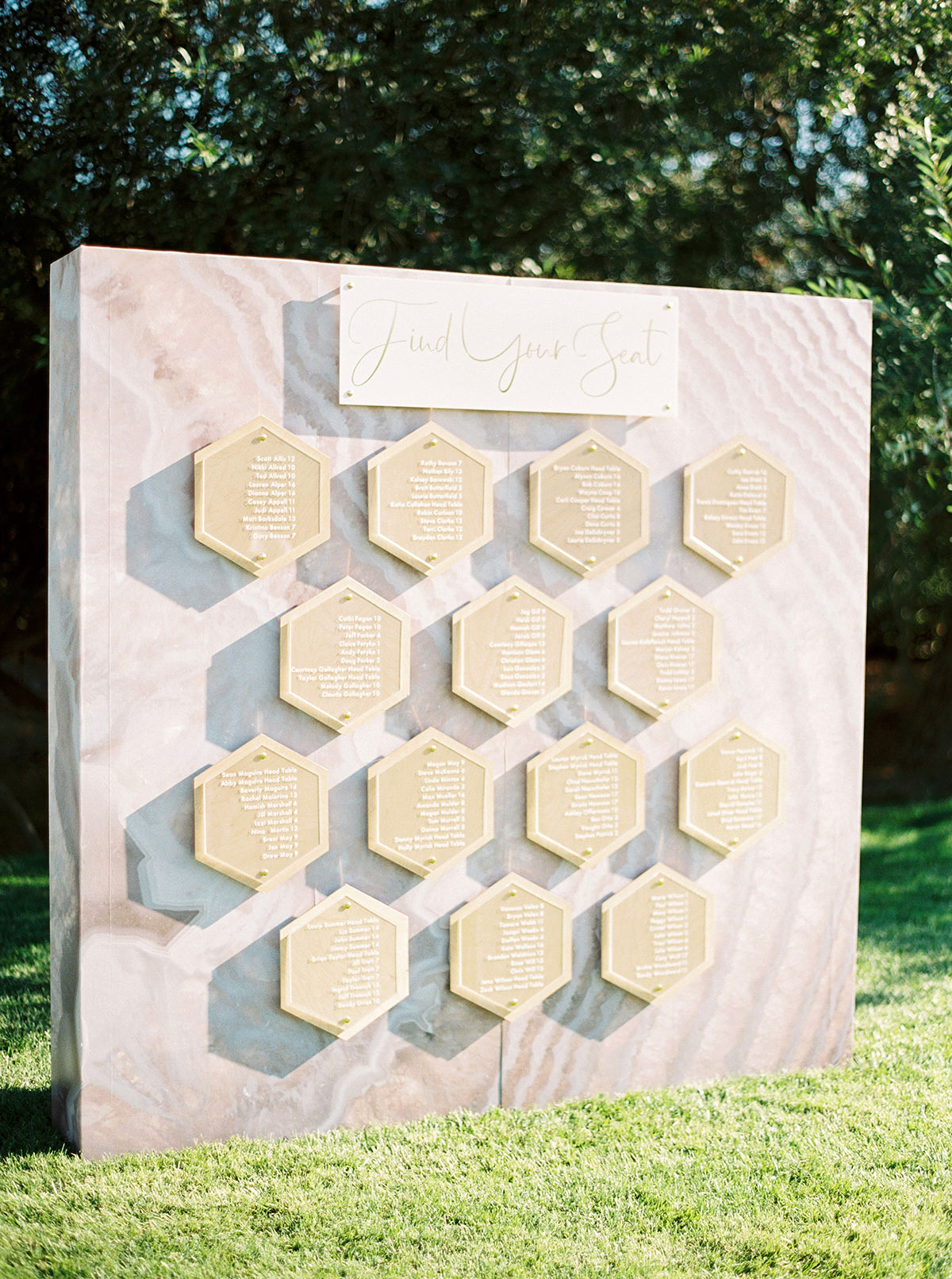 jena donny wedding seating chart wall