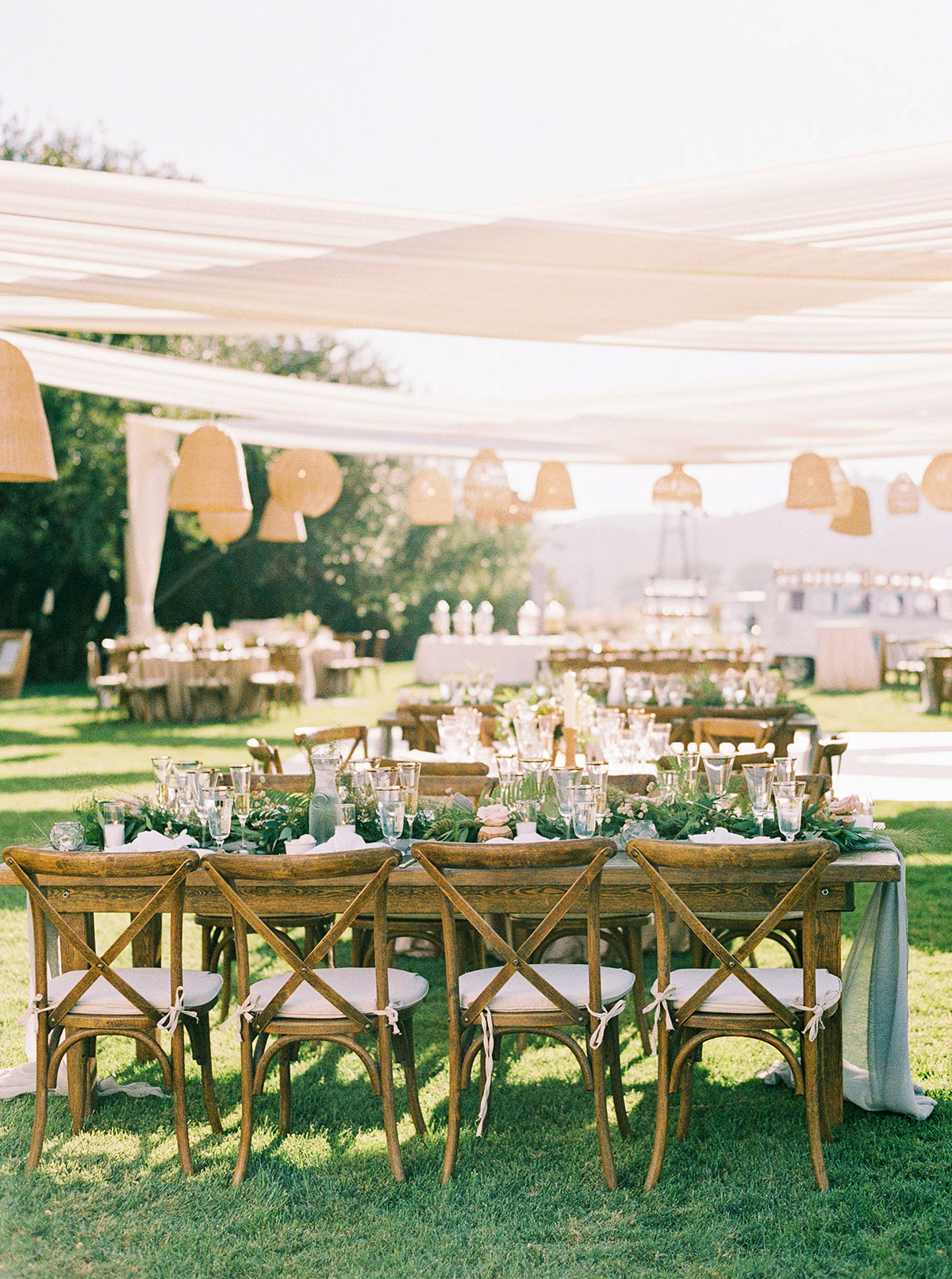 jena donny wedding outdoor reception tables