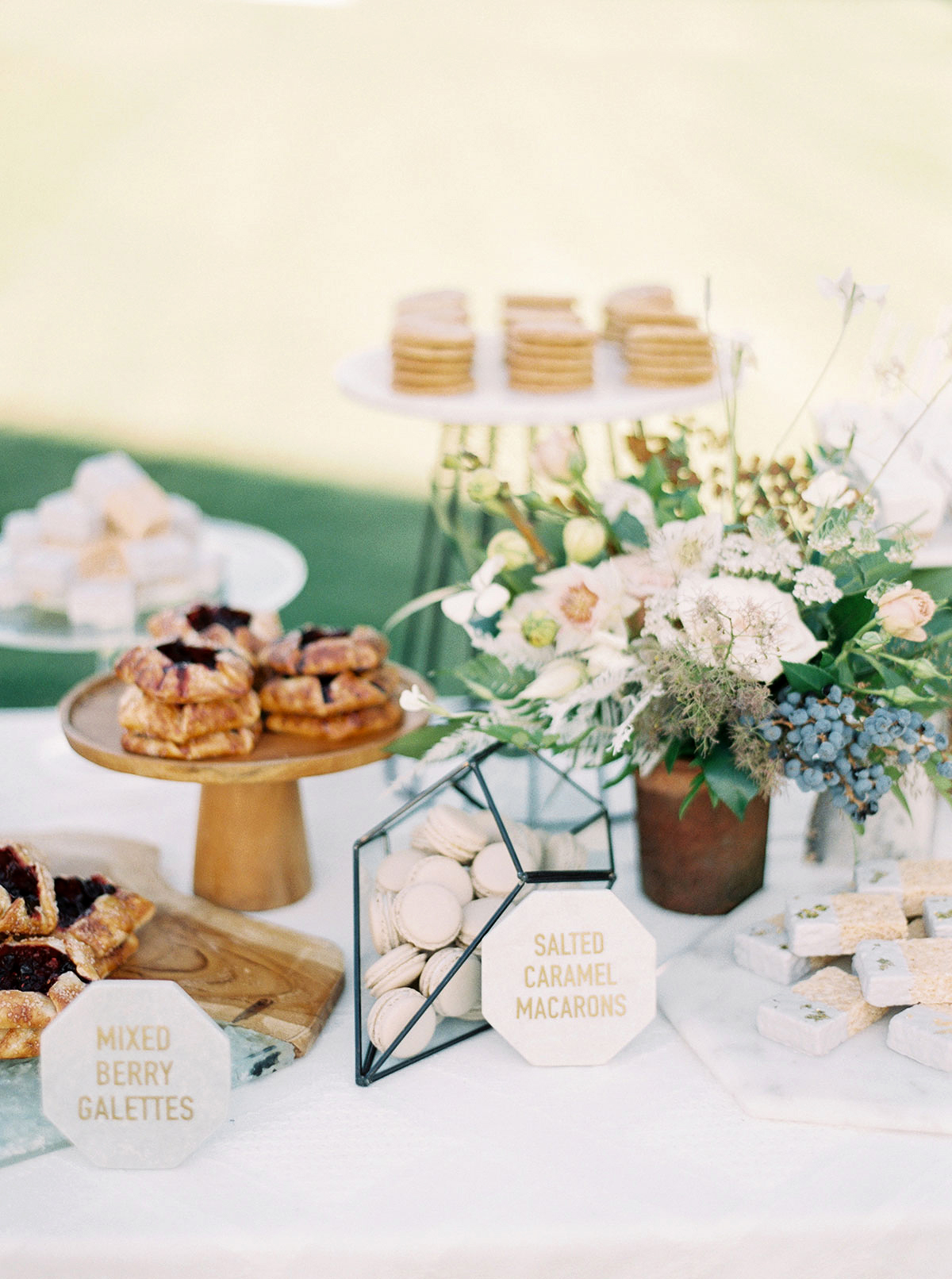 jena donny wedding desserts table