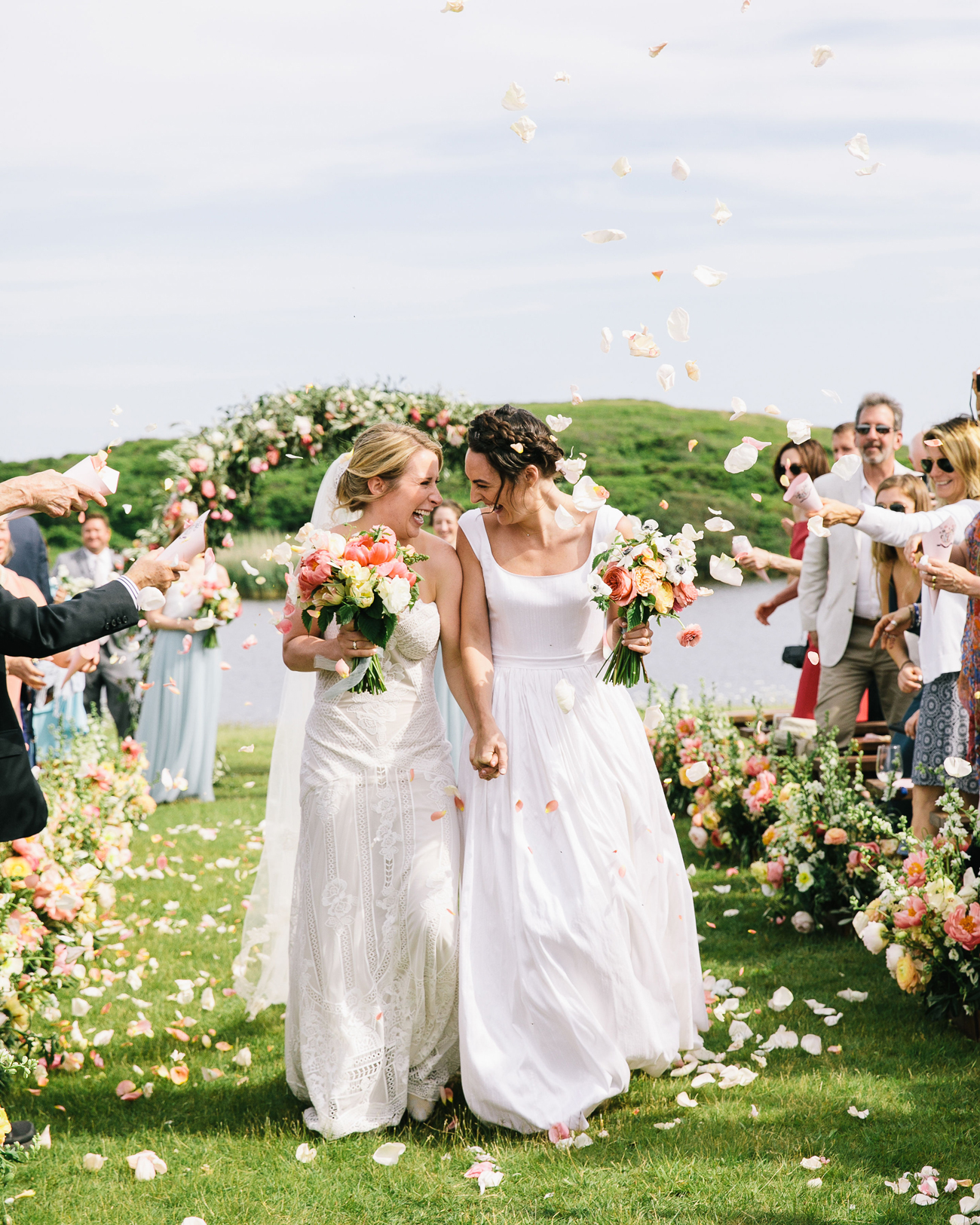 This Couple Had a Silent Disco During Their Wedding at a Martha's Vineyard Sheep Farm