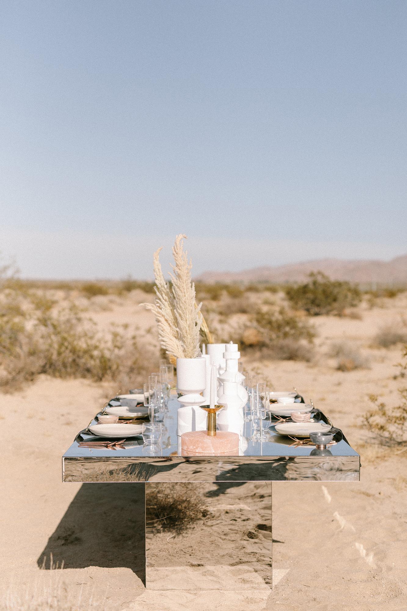 desert wedding inspired tablescape