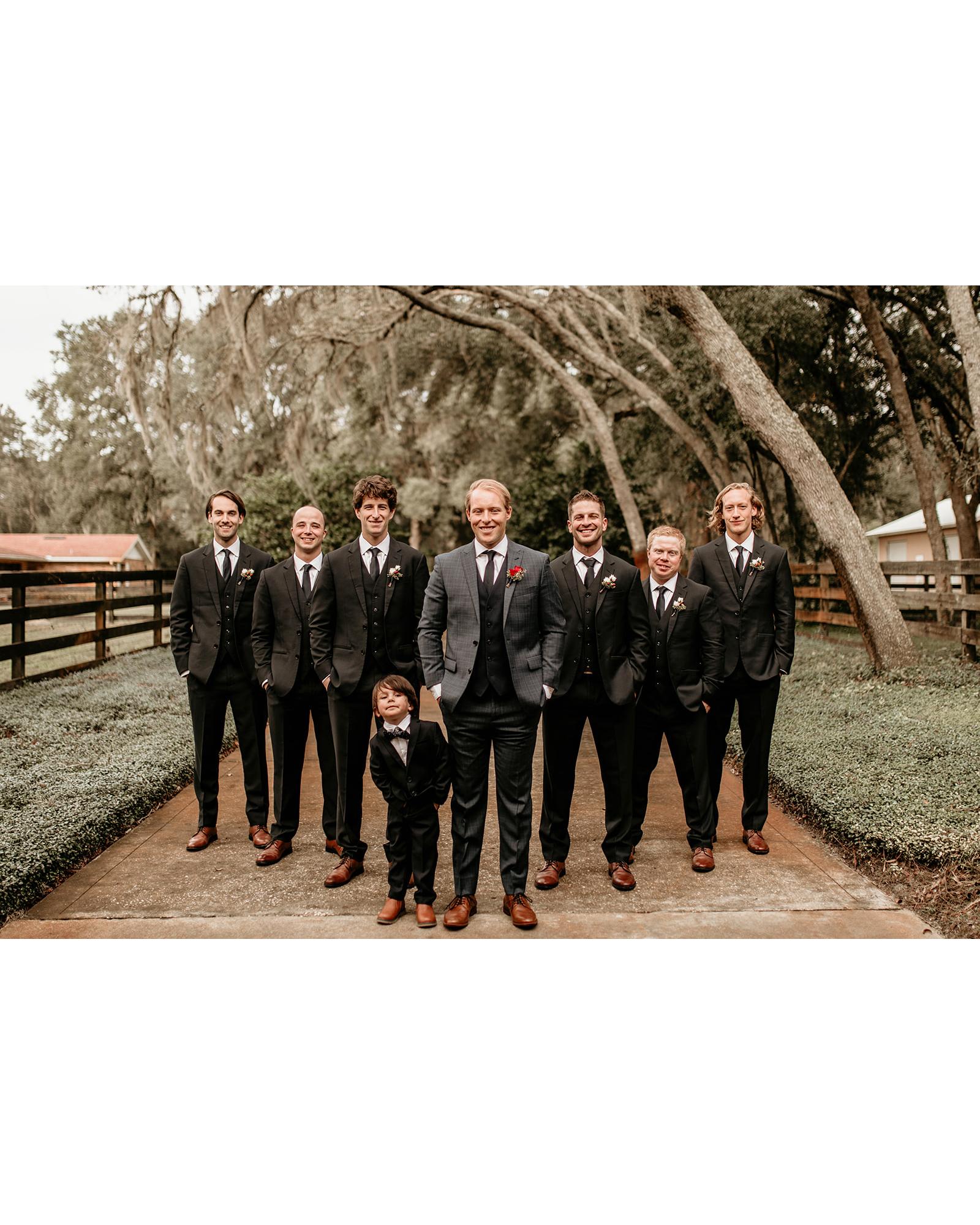 aerielle dyan wedding groomsmen