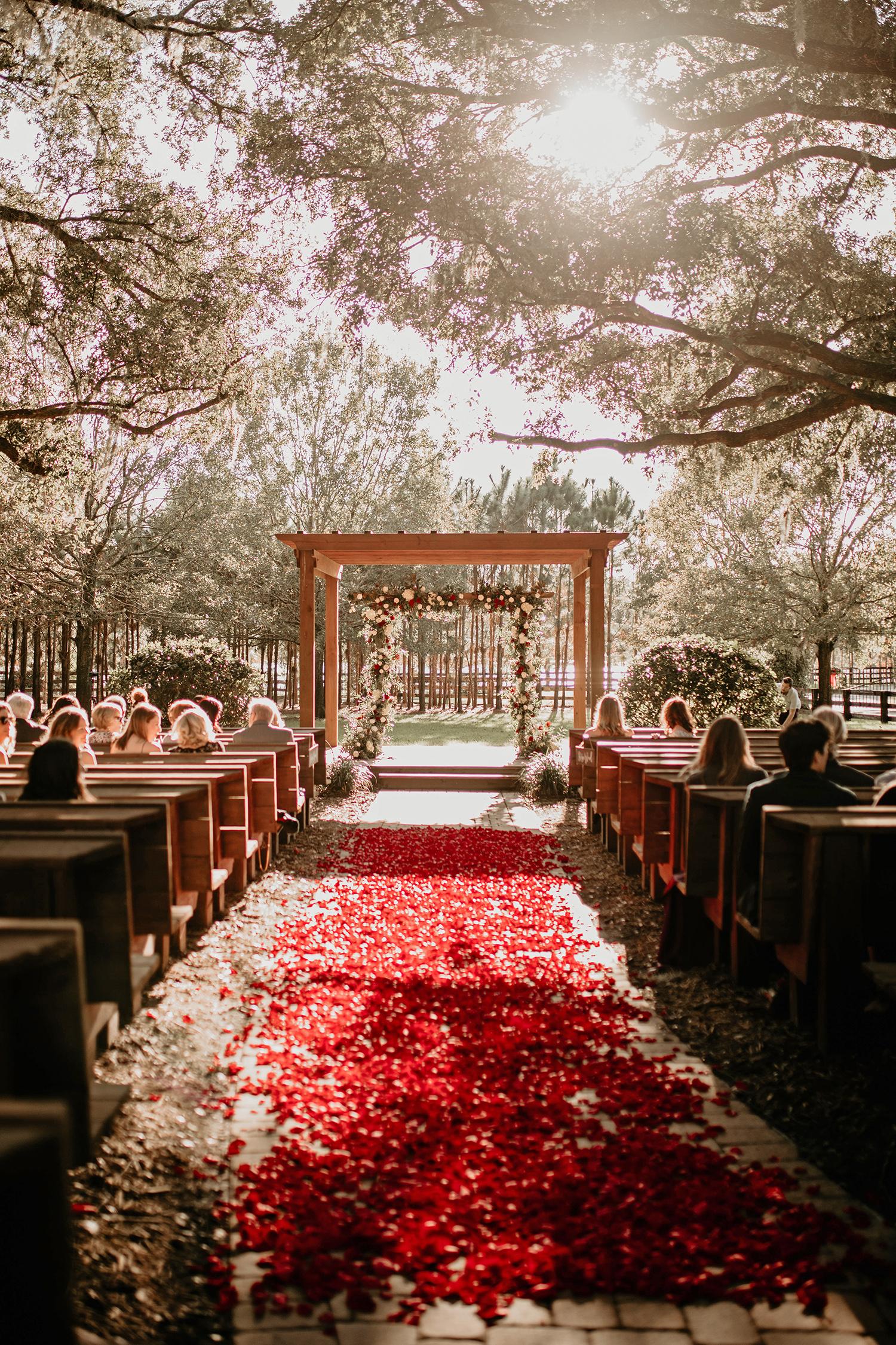 aerielle dyan wedding outdoor ceremony setting