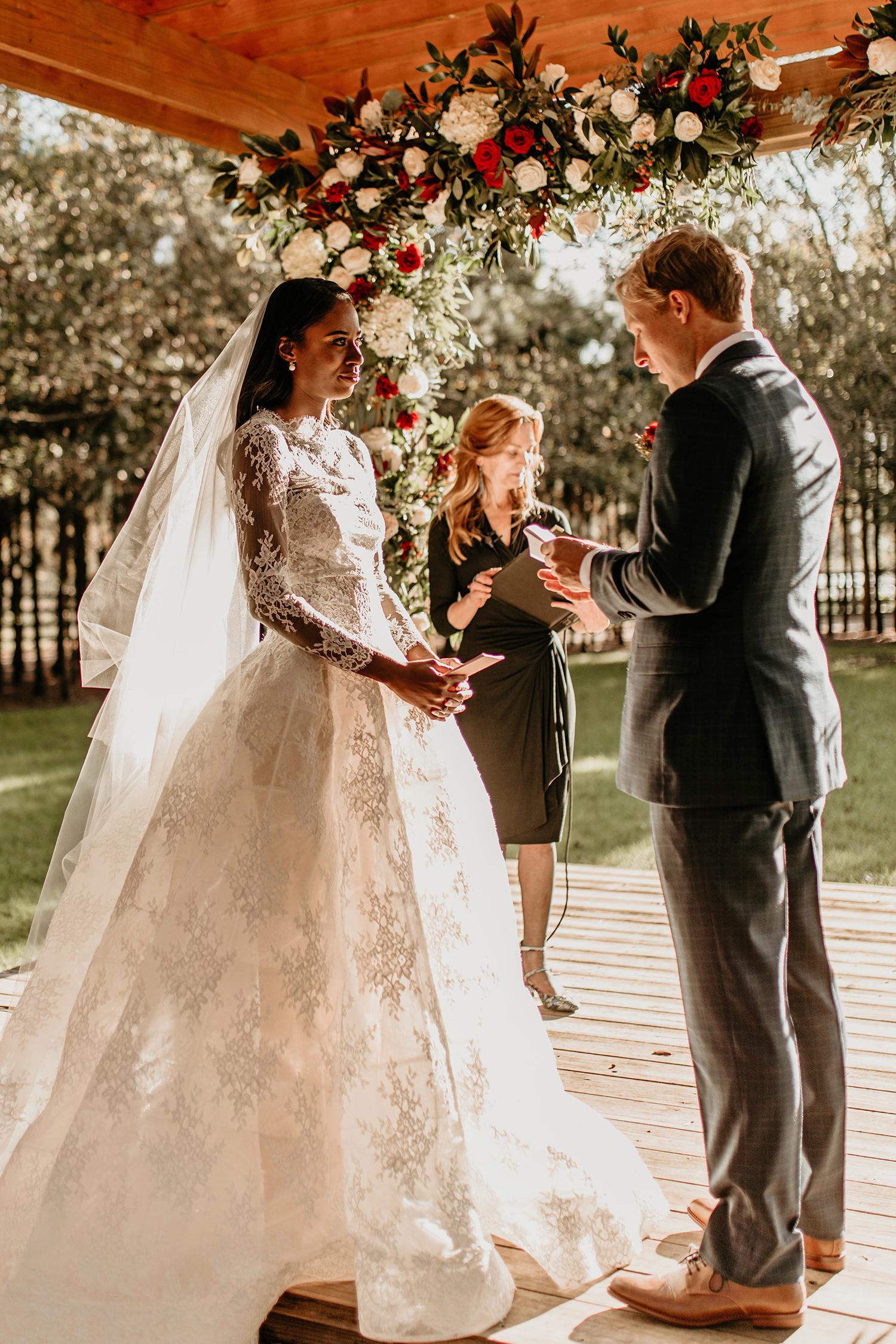 aerielle dyan wedding couple vows