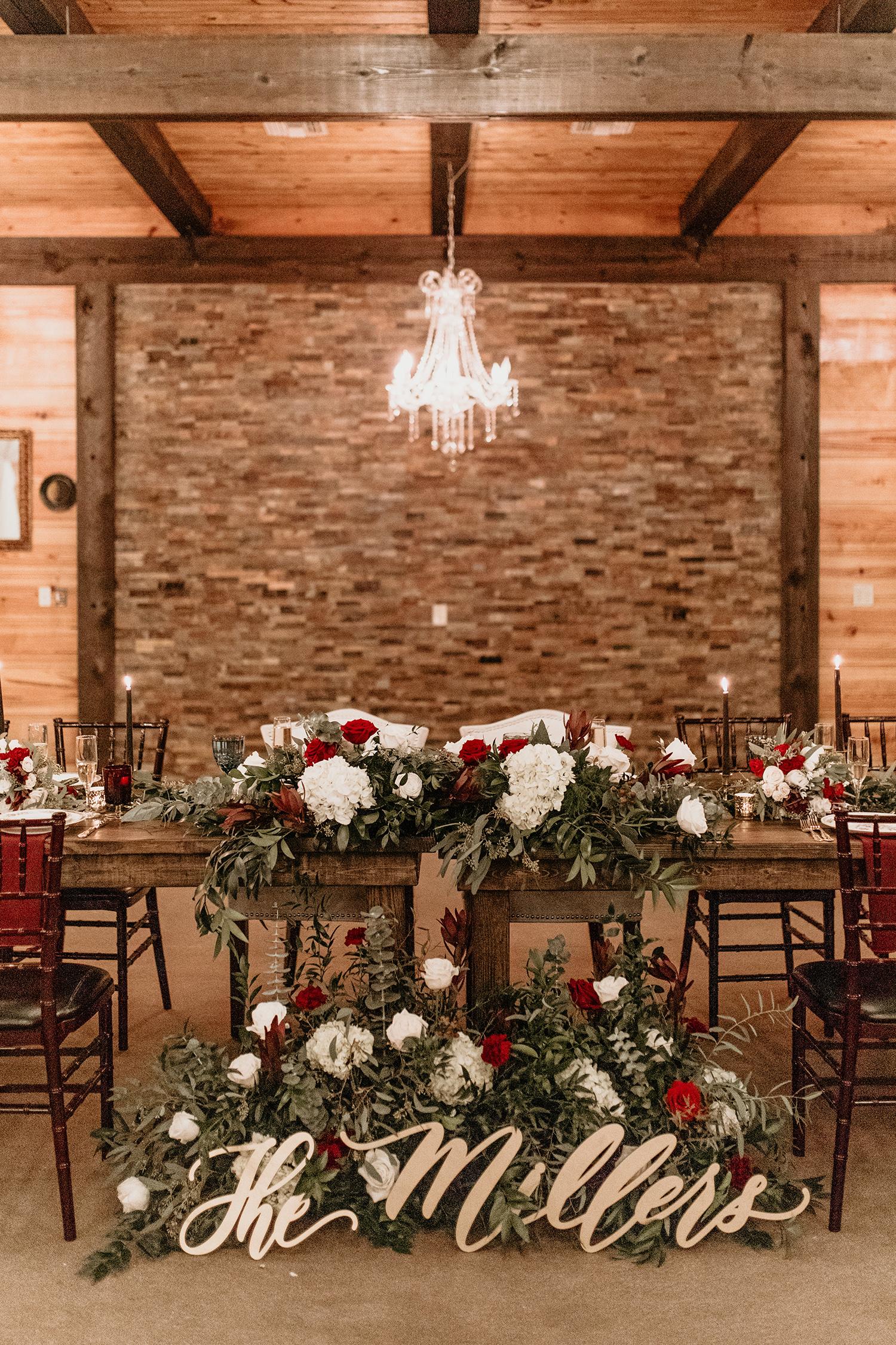 aerielle dyan wedding head table