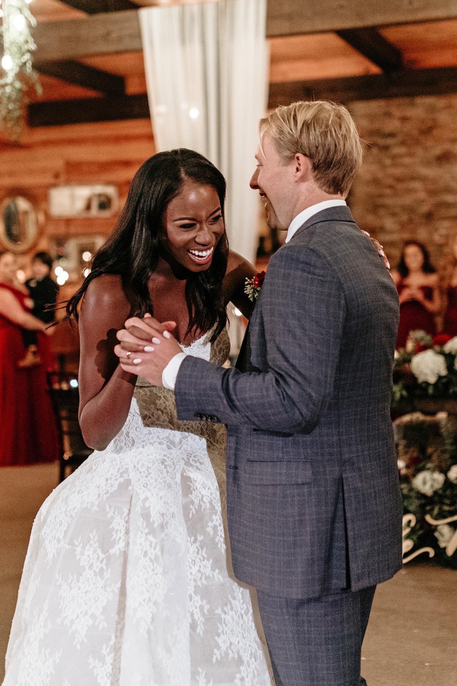 aerielle dyan wedding couple first dance