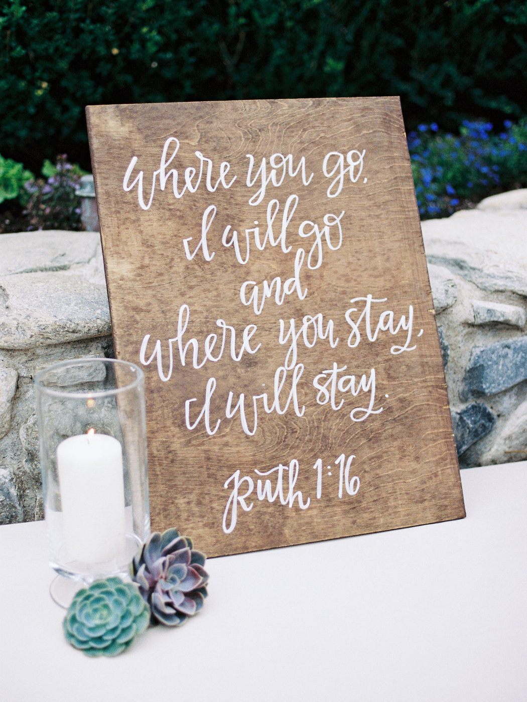 desert inspired wedding sign