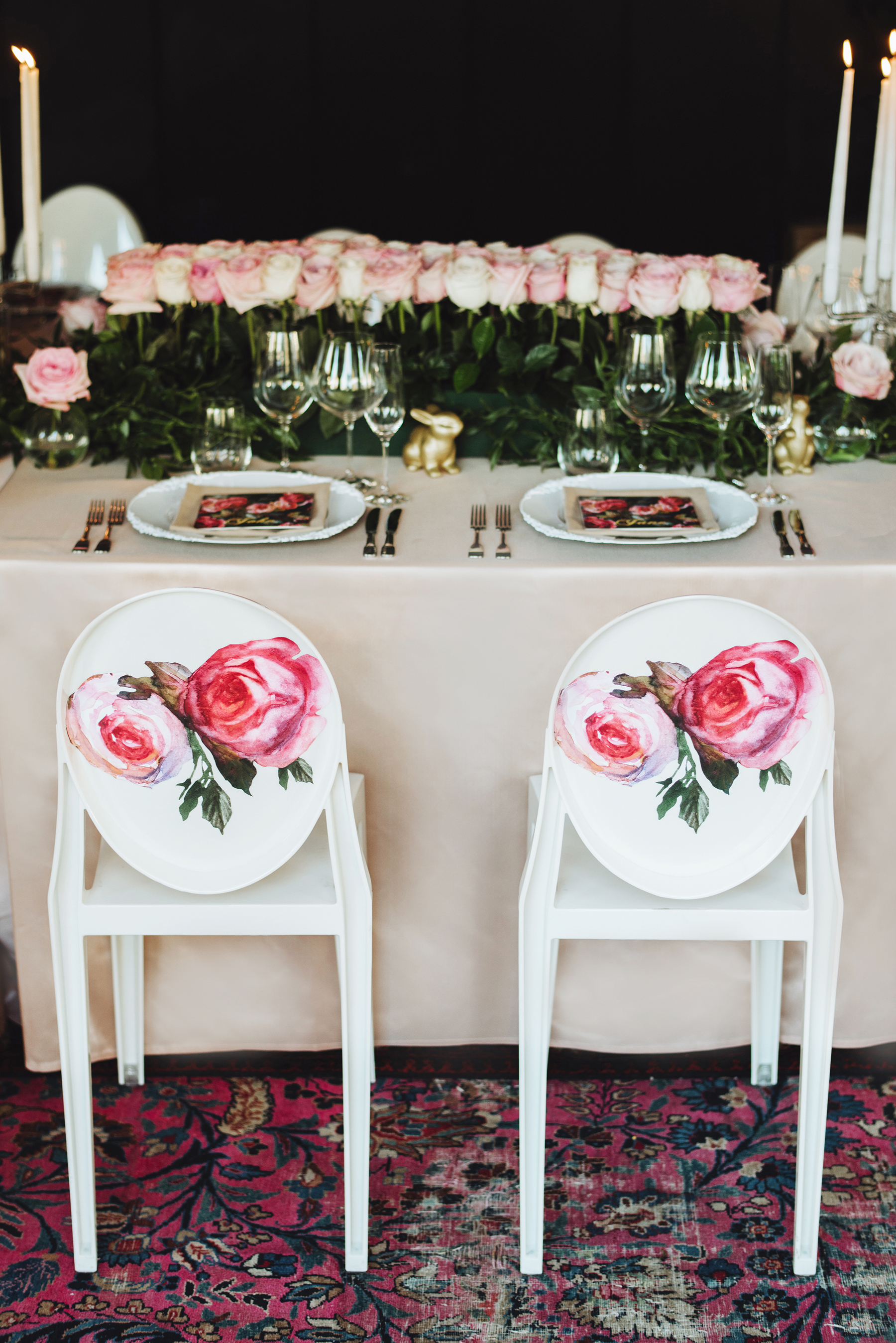 Chair Decor Rose Decals