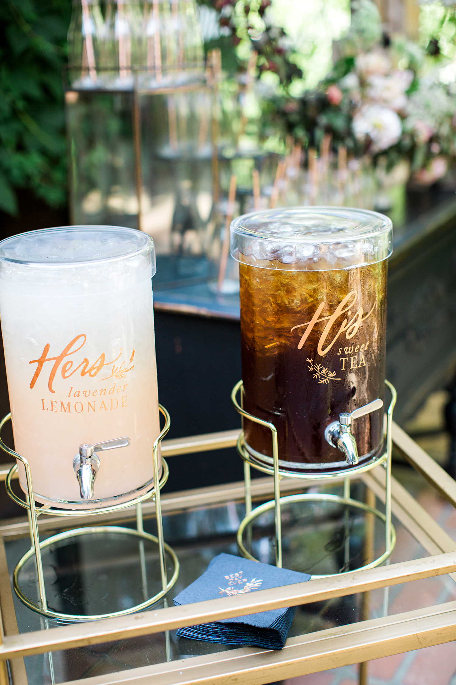 megan scott wedding his and hers refreshments