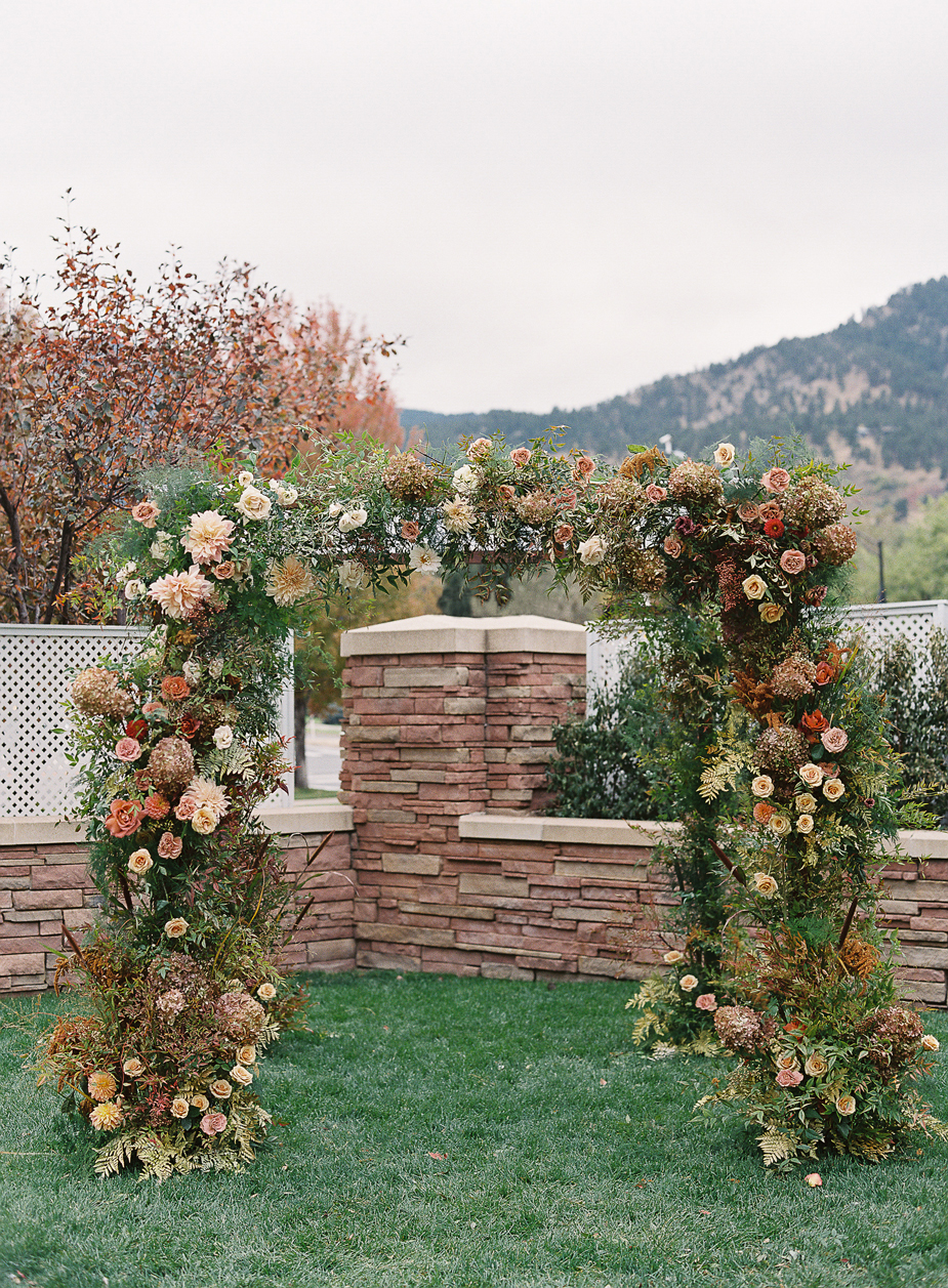 floral foliage wedding ceremony arch