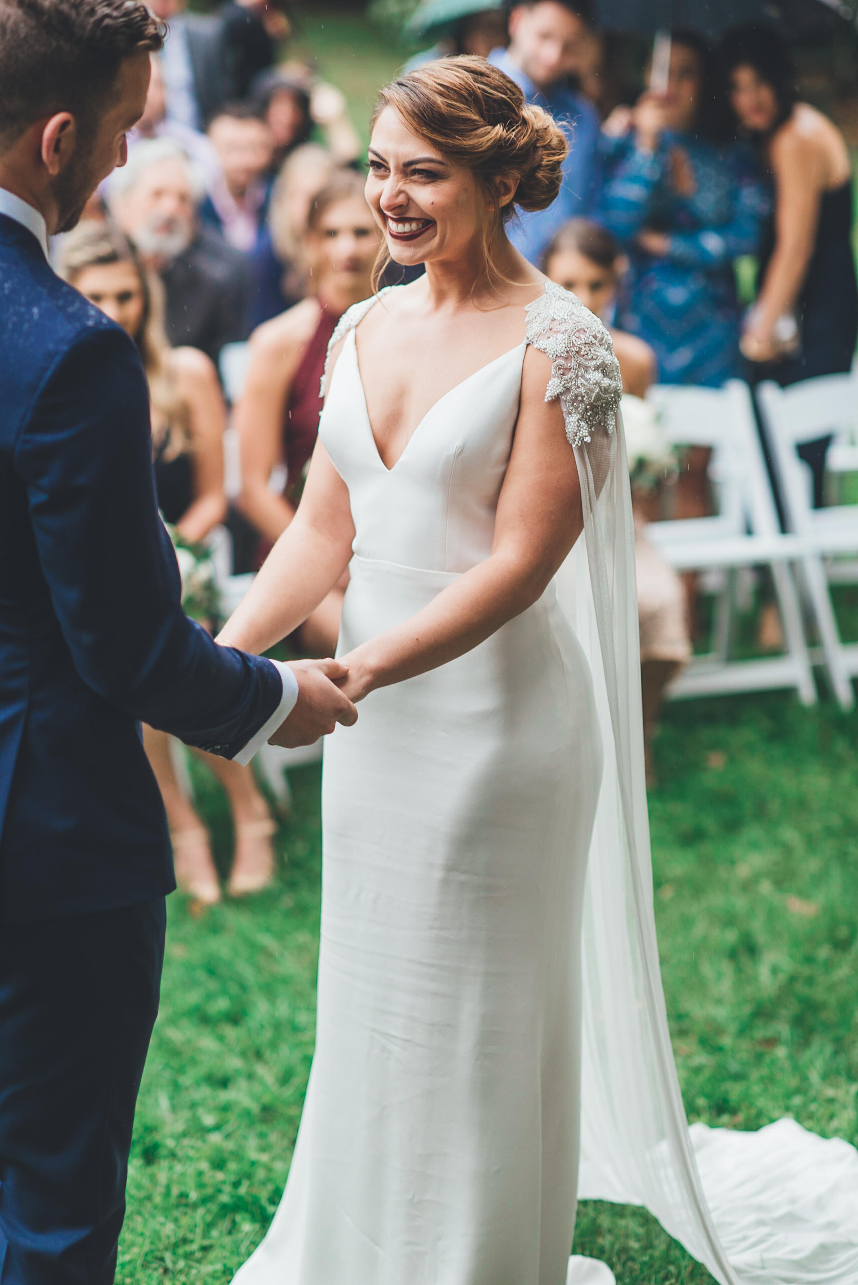 embellished bridal cape