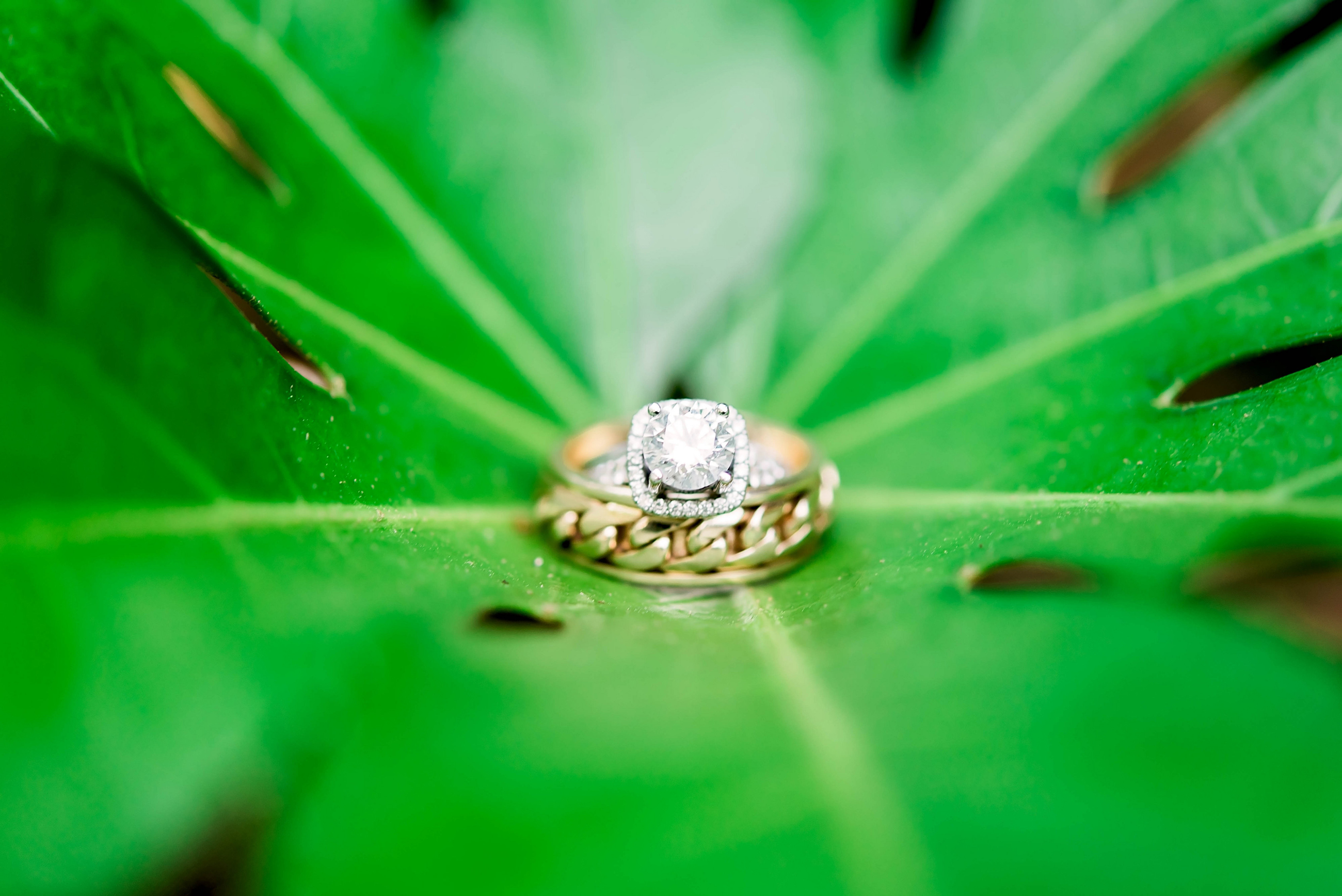 diamond wedding ring with gold wedding band