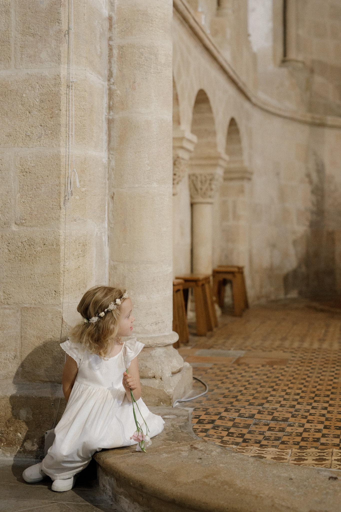 French children's brand Cyrillus flower girl dress