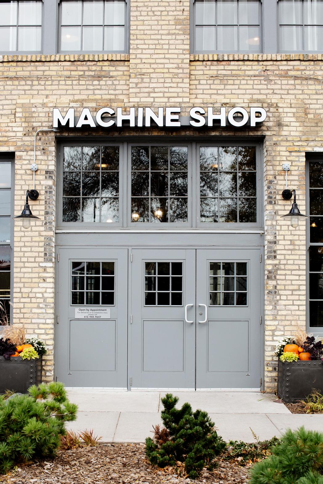 modern industrial wedding venue space
