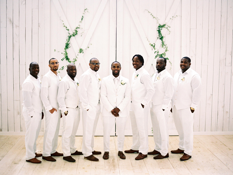 shakira travis wedding groomsmen and groom