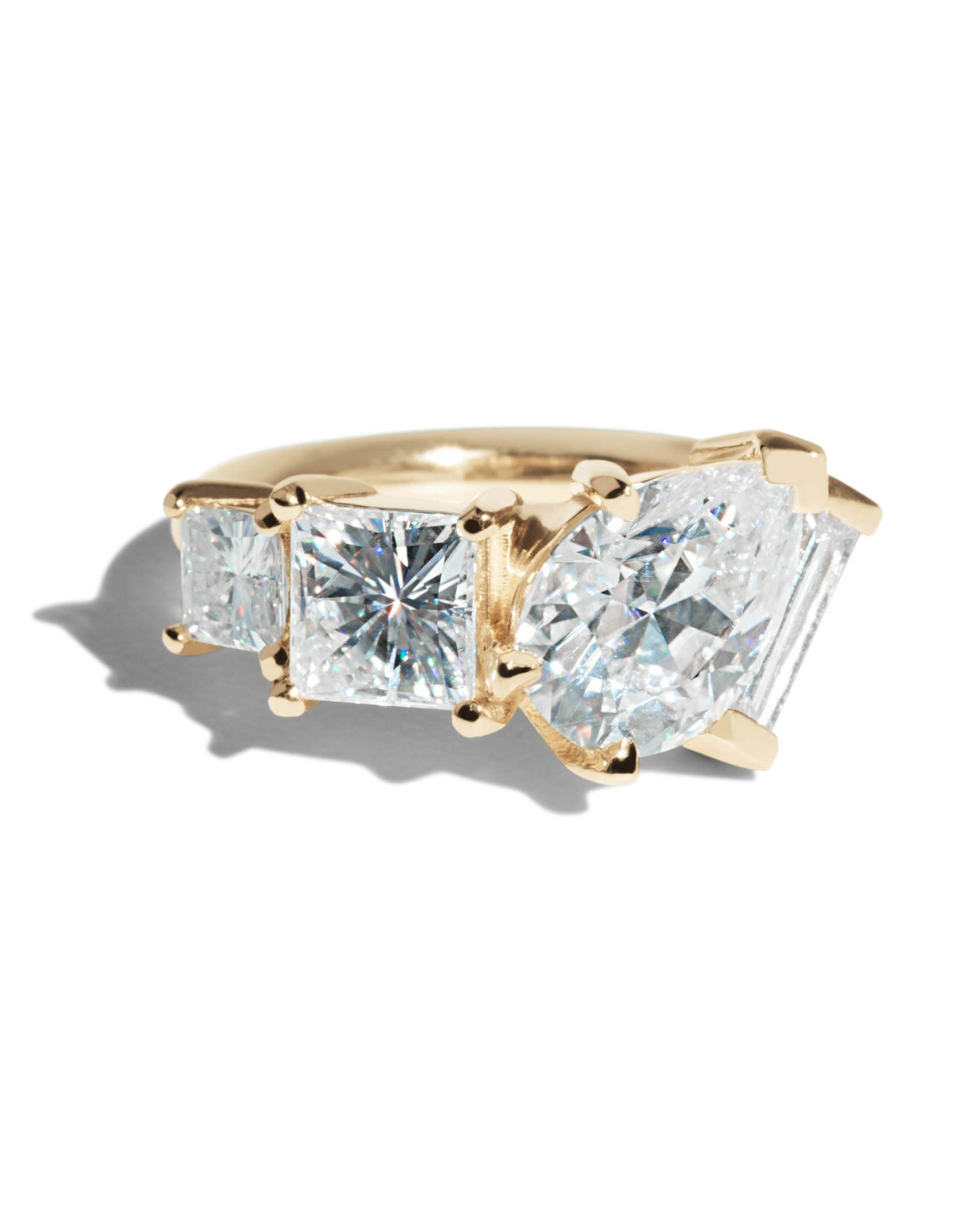 Bario Neal Custom Moissanite Linear Cluster Ring