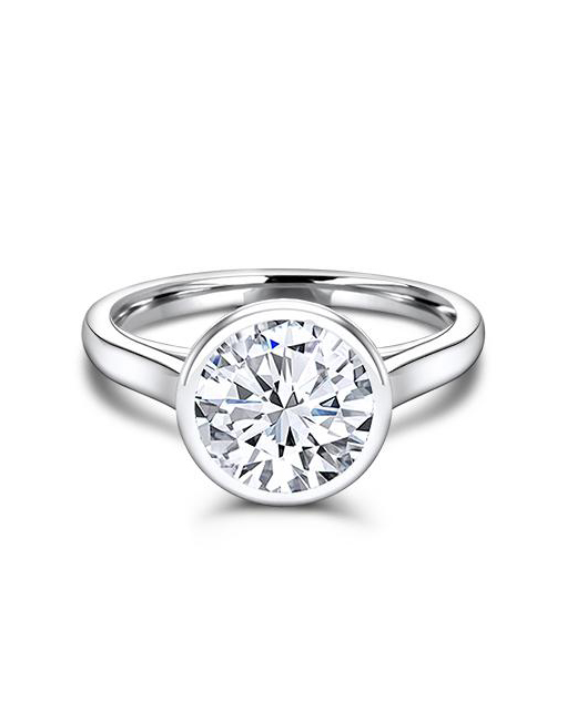 Ice Trends Round Moissanite Engagement Ring