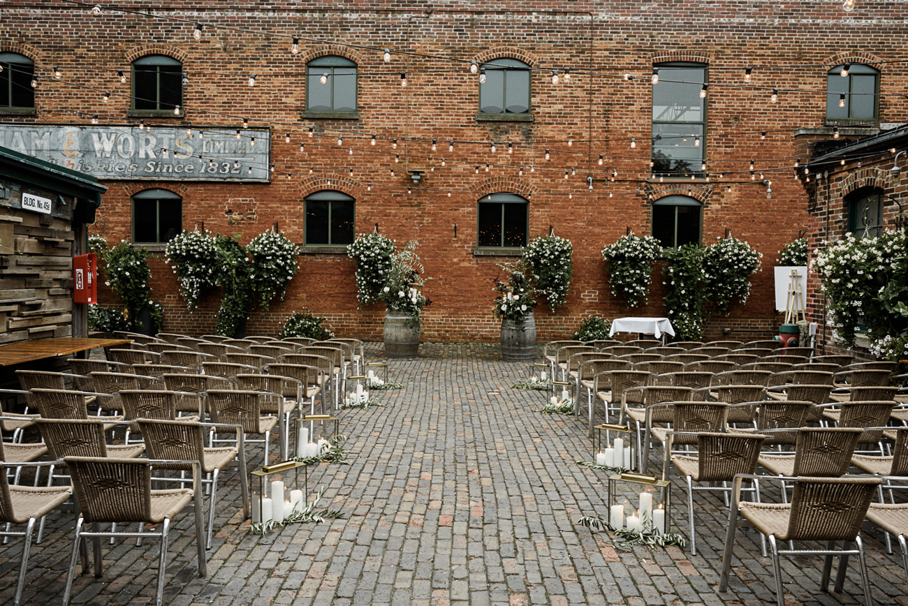 distillery courtyard wedding venue outdoors