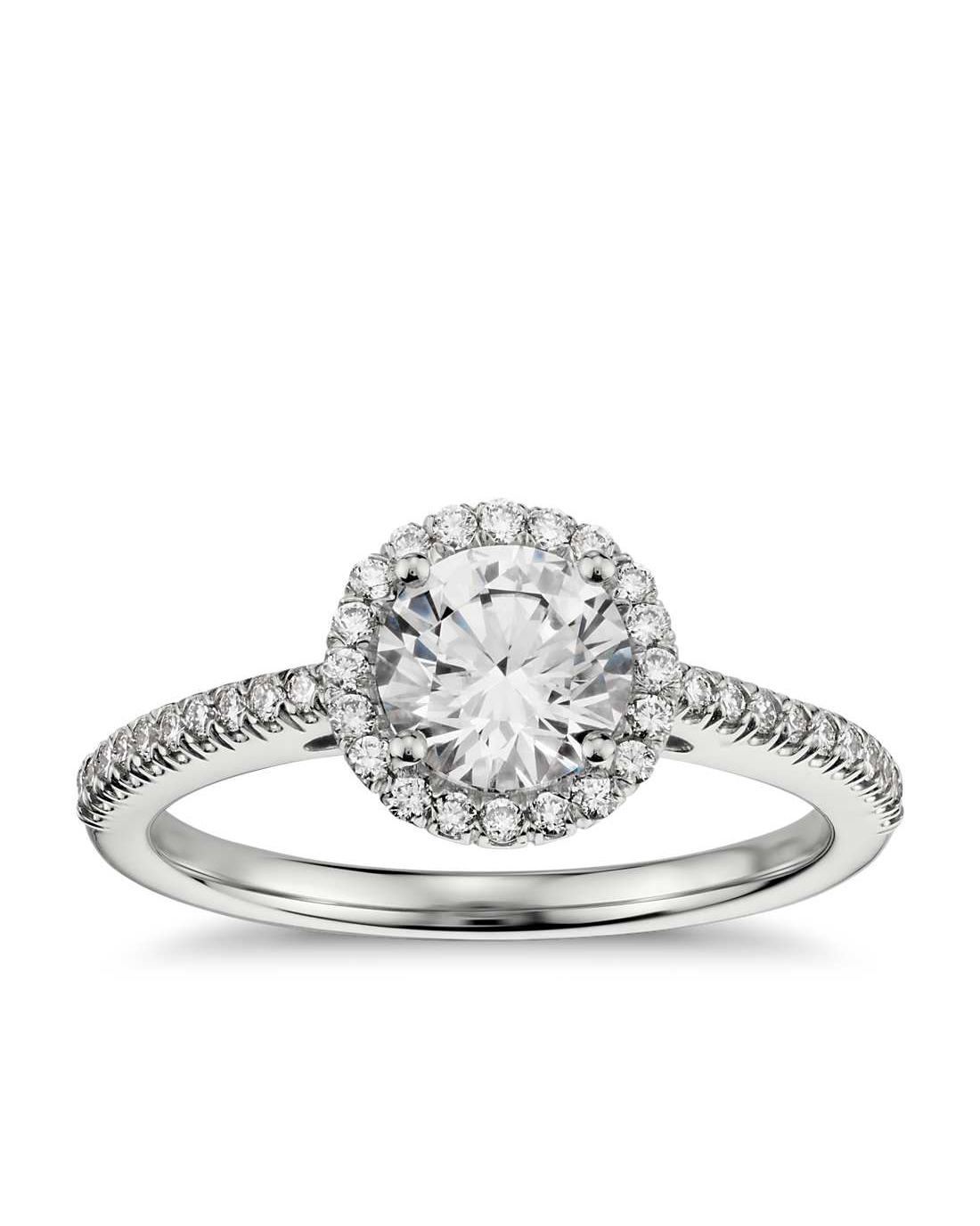 Blue Nile Classic Halo Diamond Engagement Ring