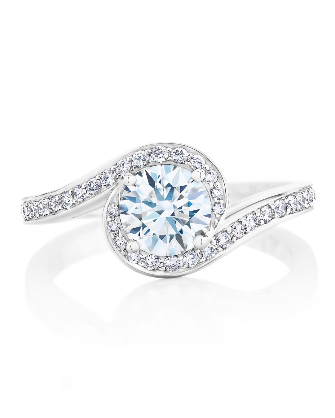 "De Beers ""Caress"" Solitaire Ring"