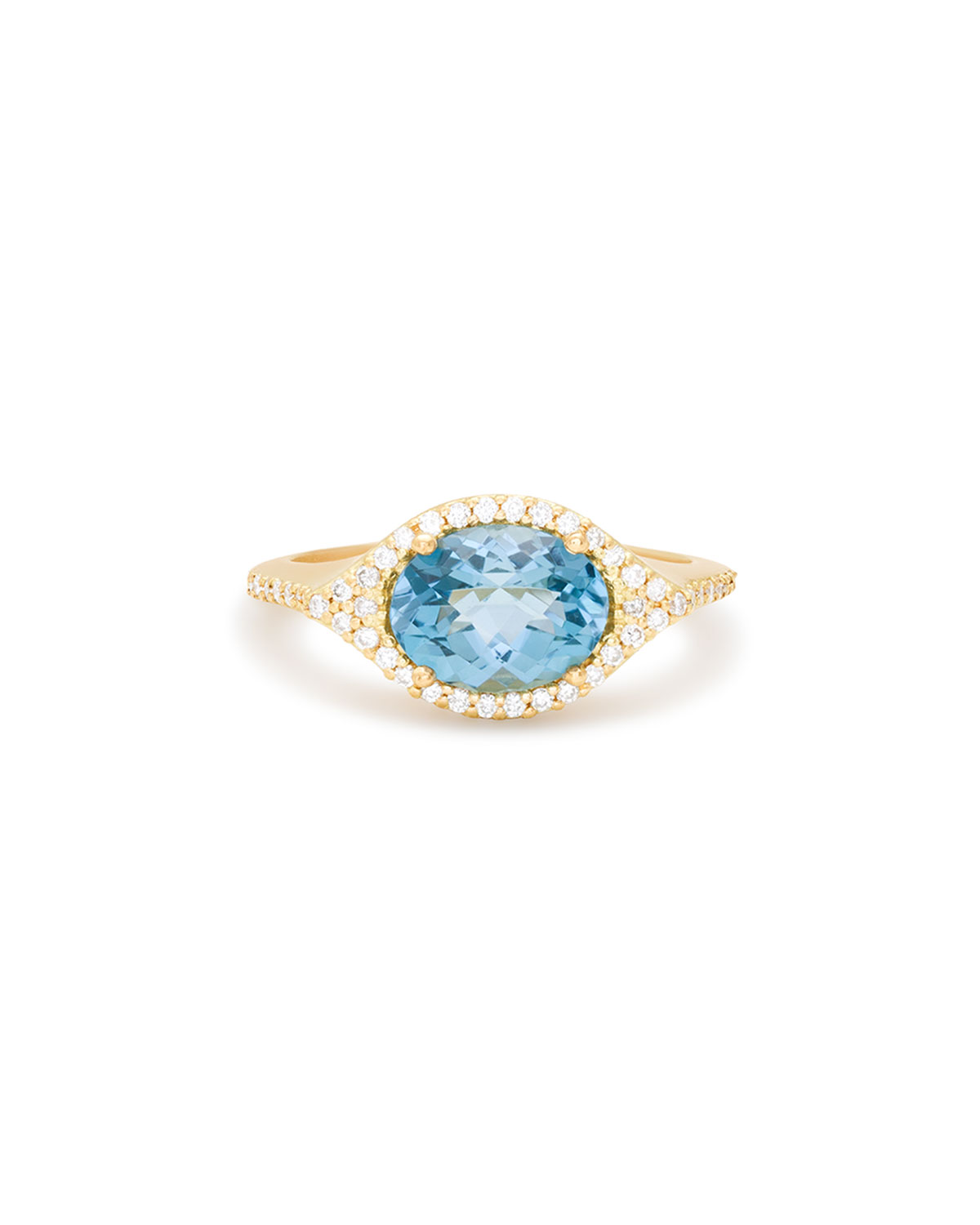 "Jamie Wolf ""Aladdin"" London Blue Topaz and Diamond Ring in 18-Karat Gold"