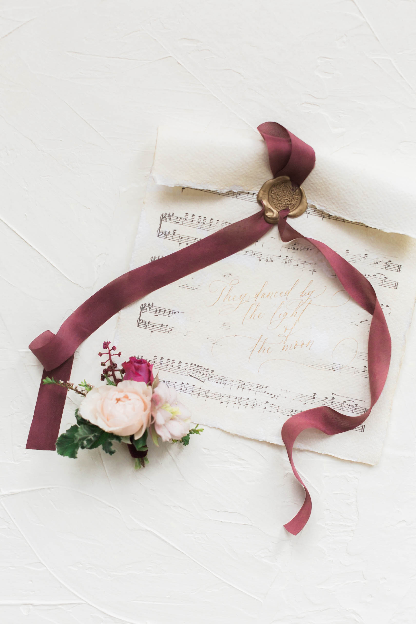 music sheet wedding invitation
