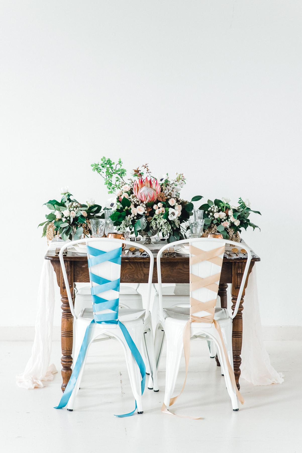 ballet inspired sweetheart table