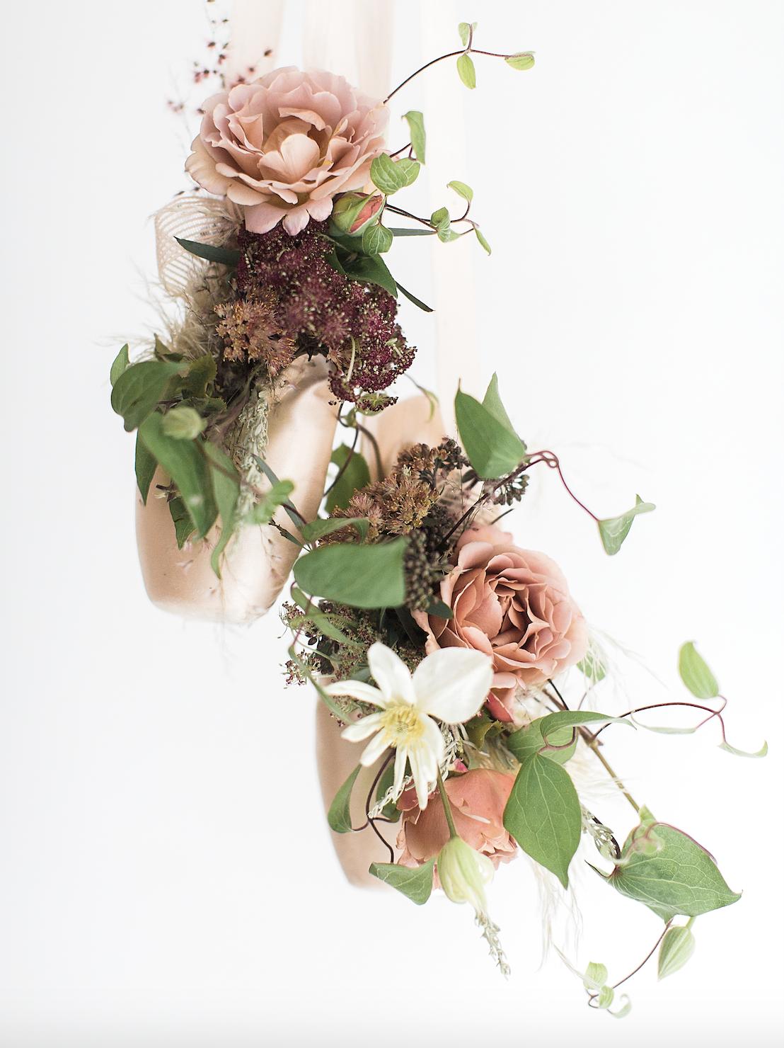 ballet slipper flower display