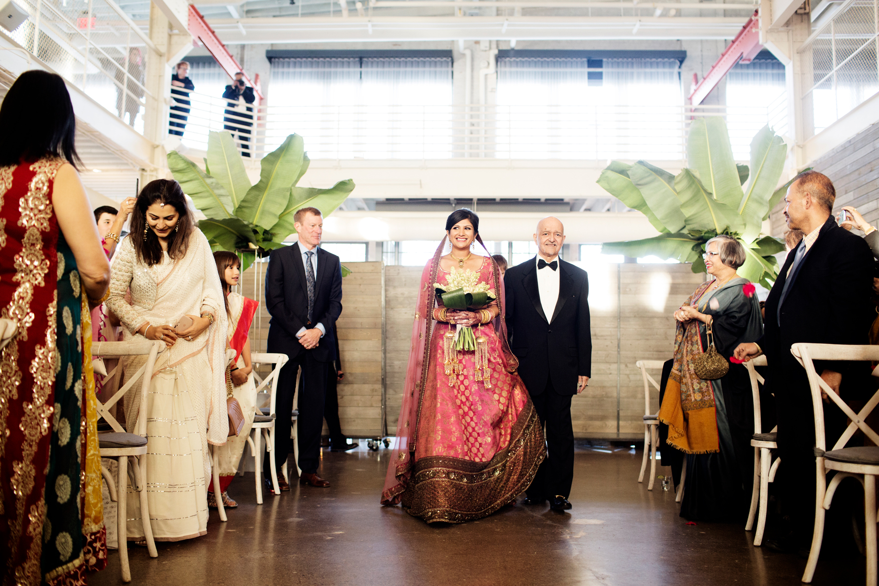 Which Side Does the Father of the Bride Traditionally Stand on During the Processional?