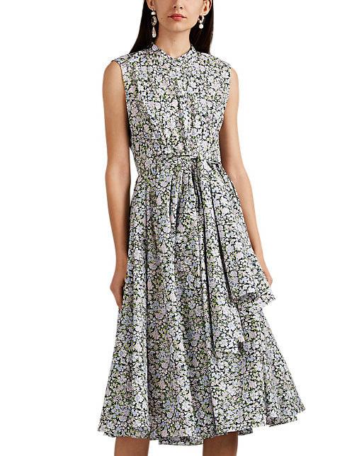 Floral print Cotton Shirt Dress with belted waist