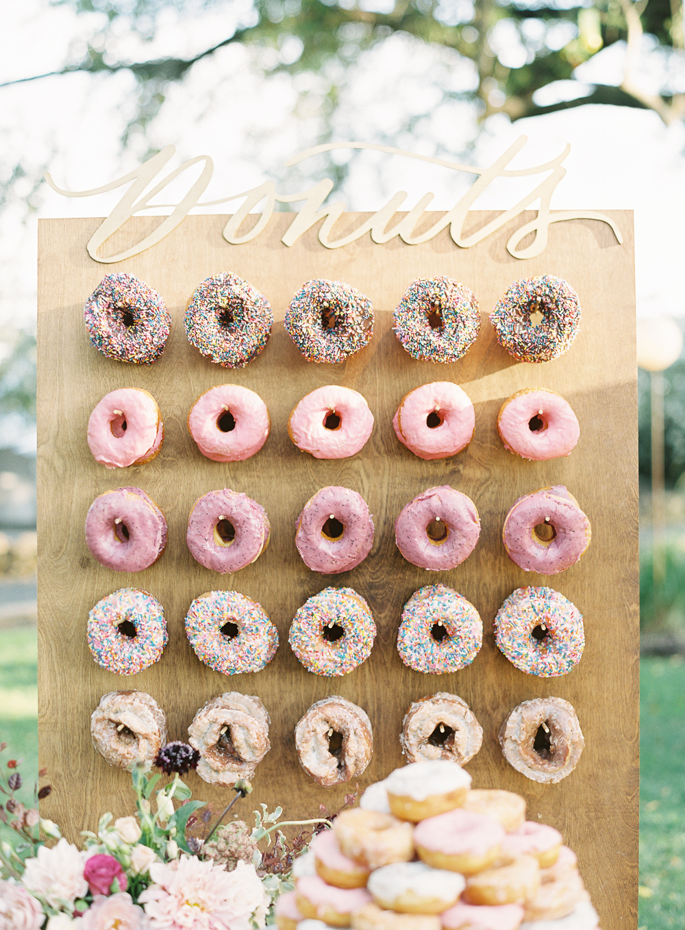 colorful donut wall