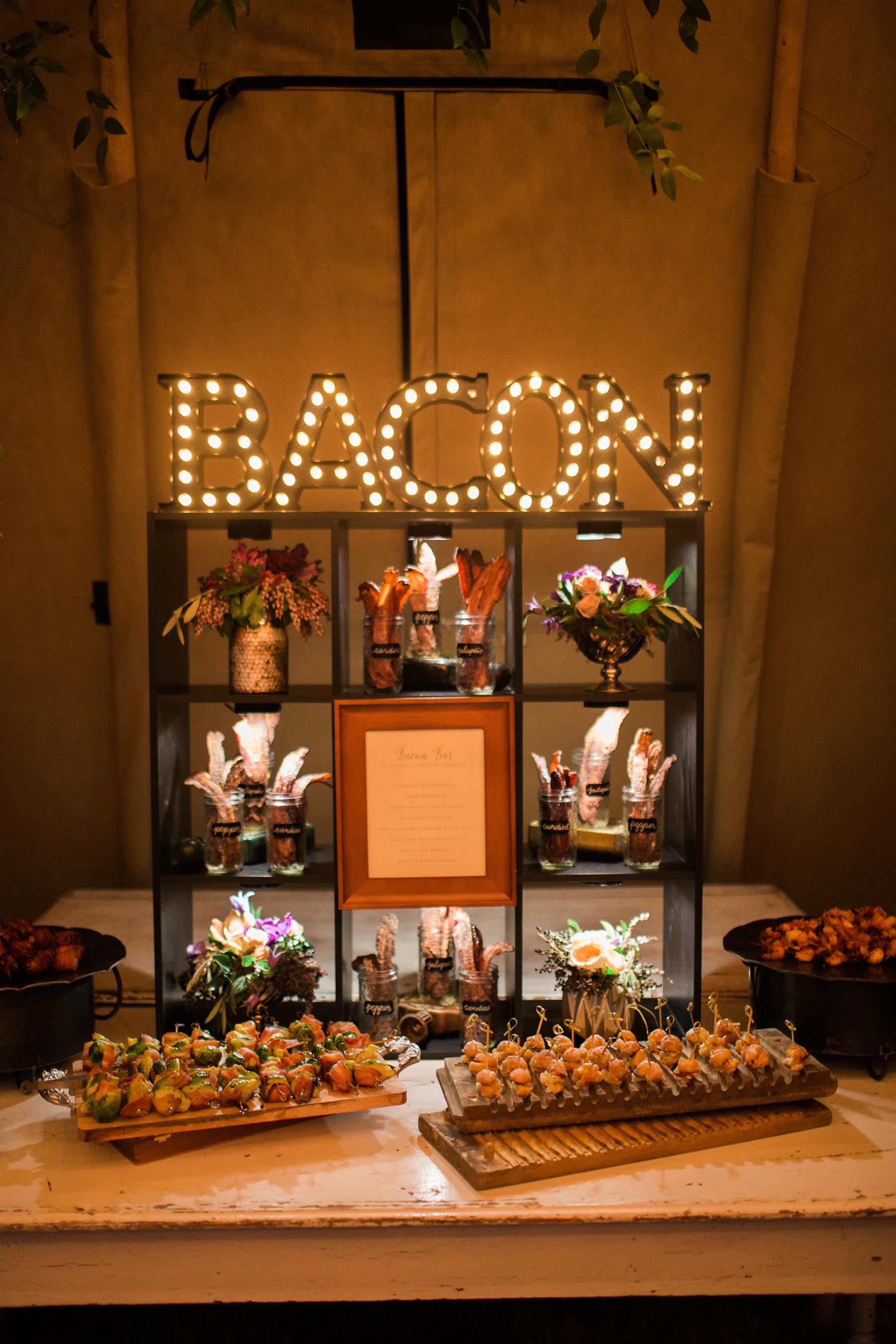 bacon food wall
