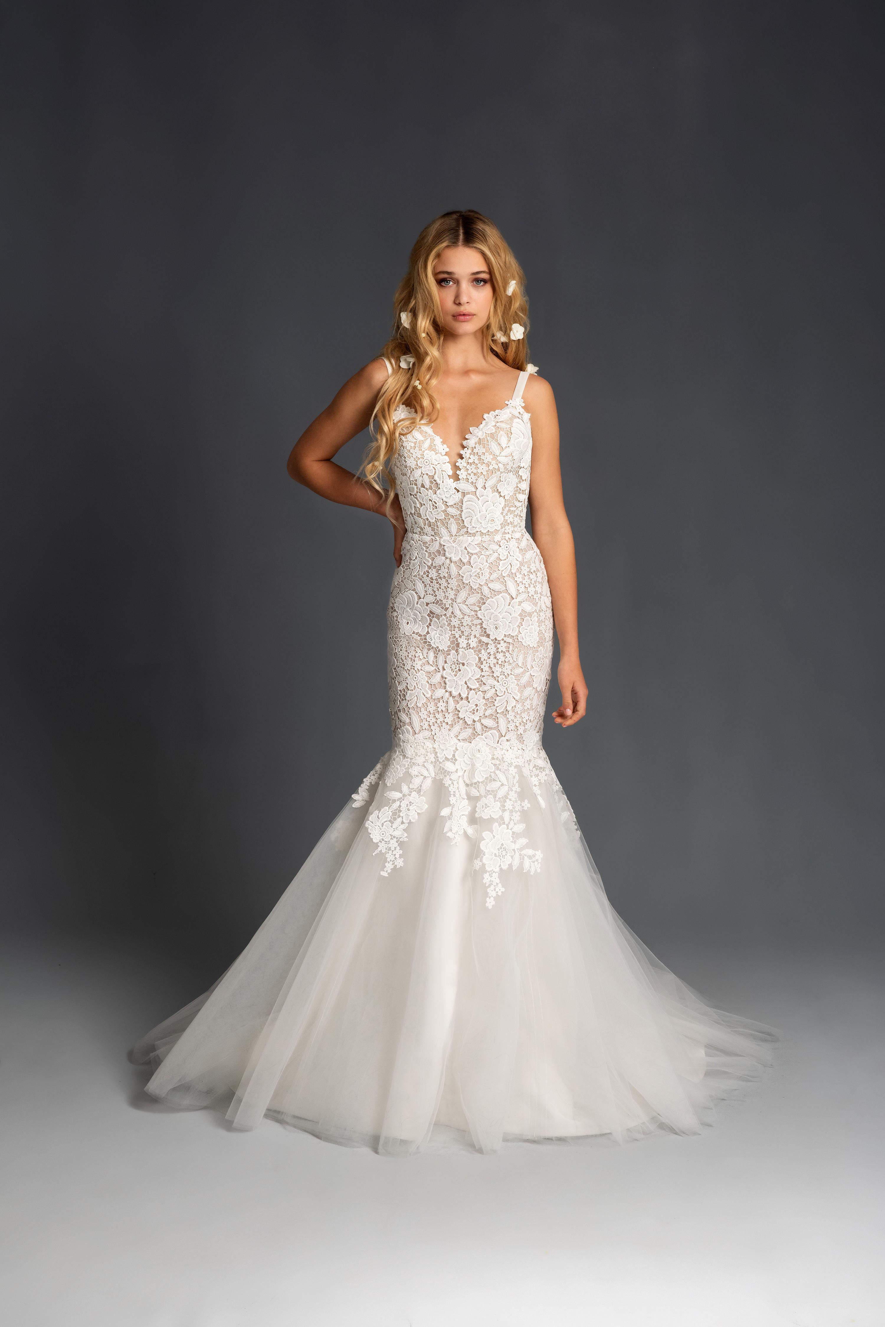 blush hayley paige sleeveless lace mermaid wedding dress spring 2020