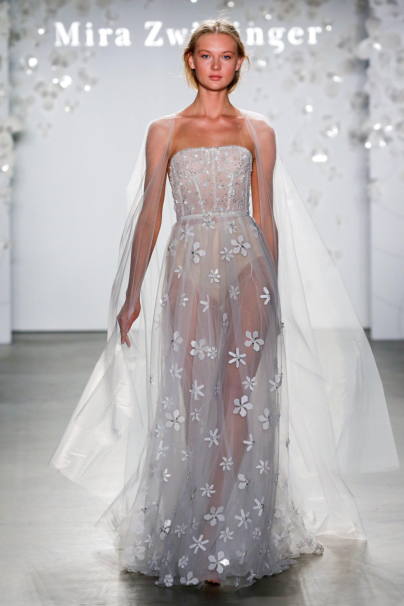 mira zwillinger strapless floral embroidered wedding dress spring 2020