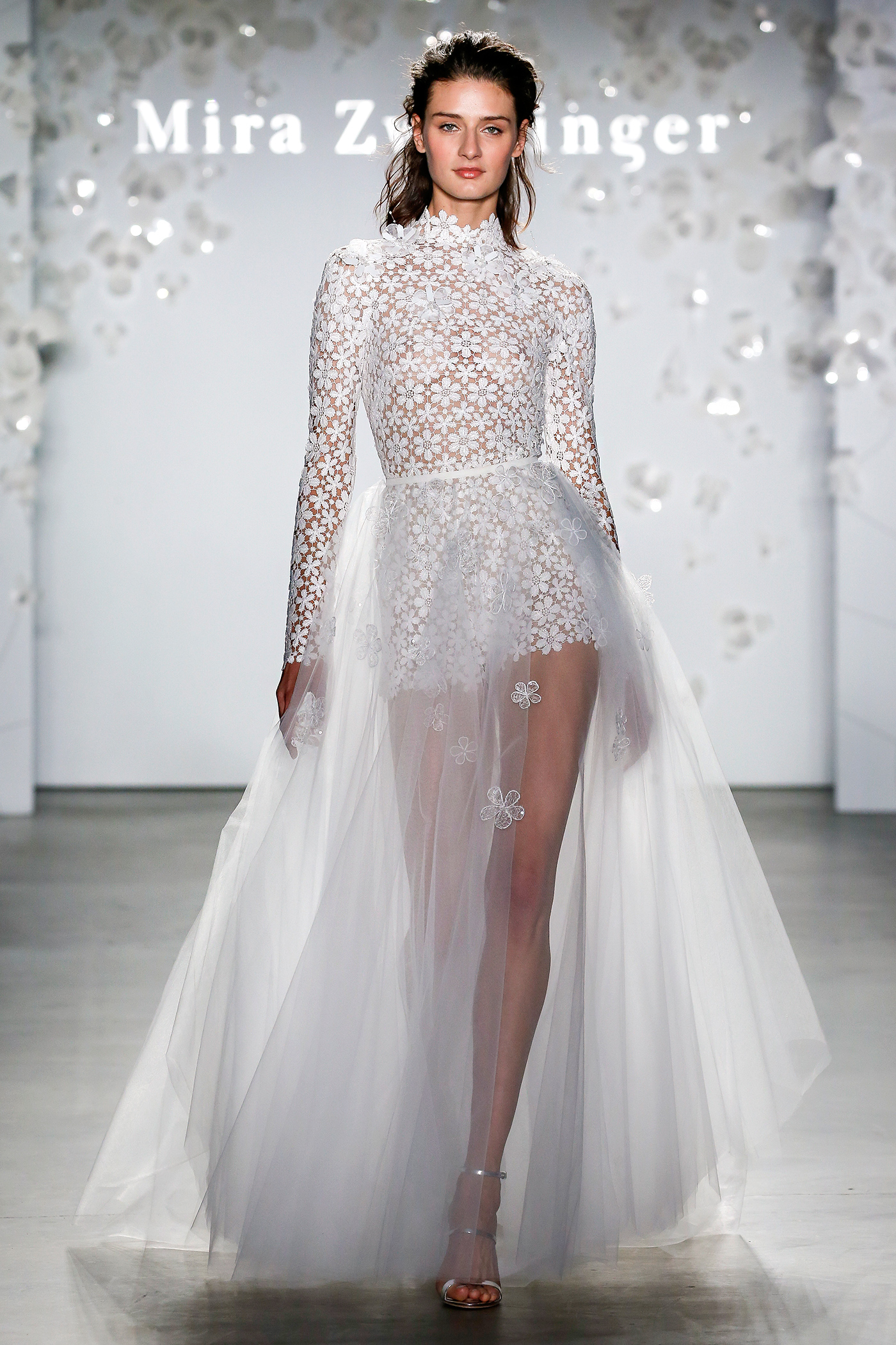 mira zwillinger long-sleeved skirt overlay wedding dress spring 2020