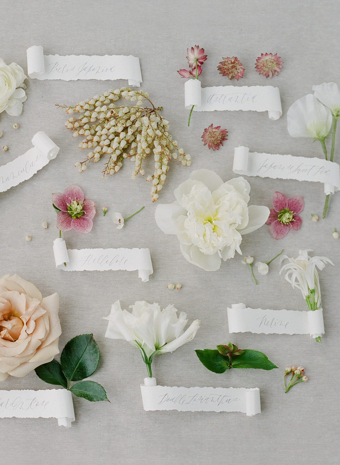 whimsical floral and scroll decor arrangement