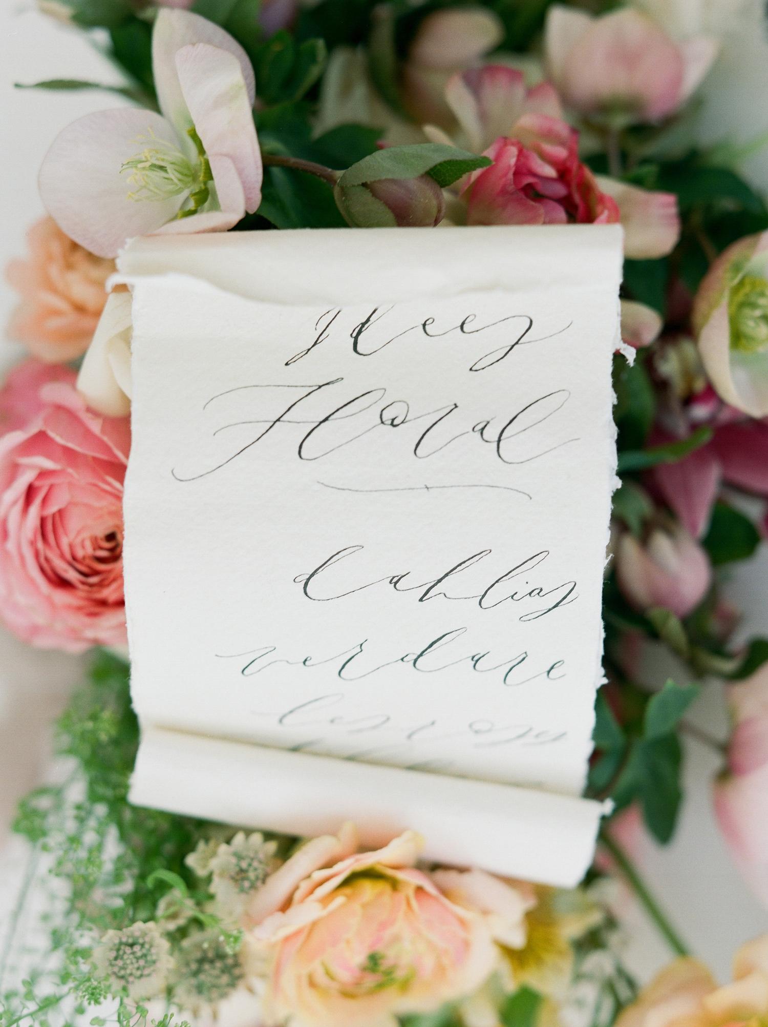 Scroll wedding signs