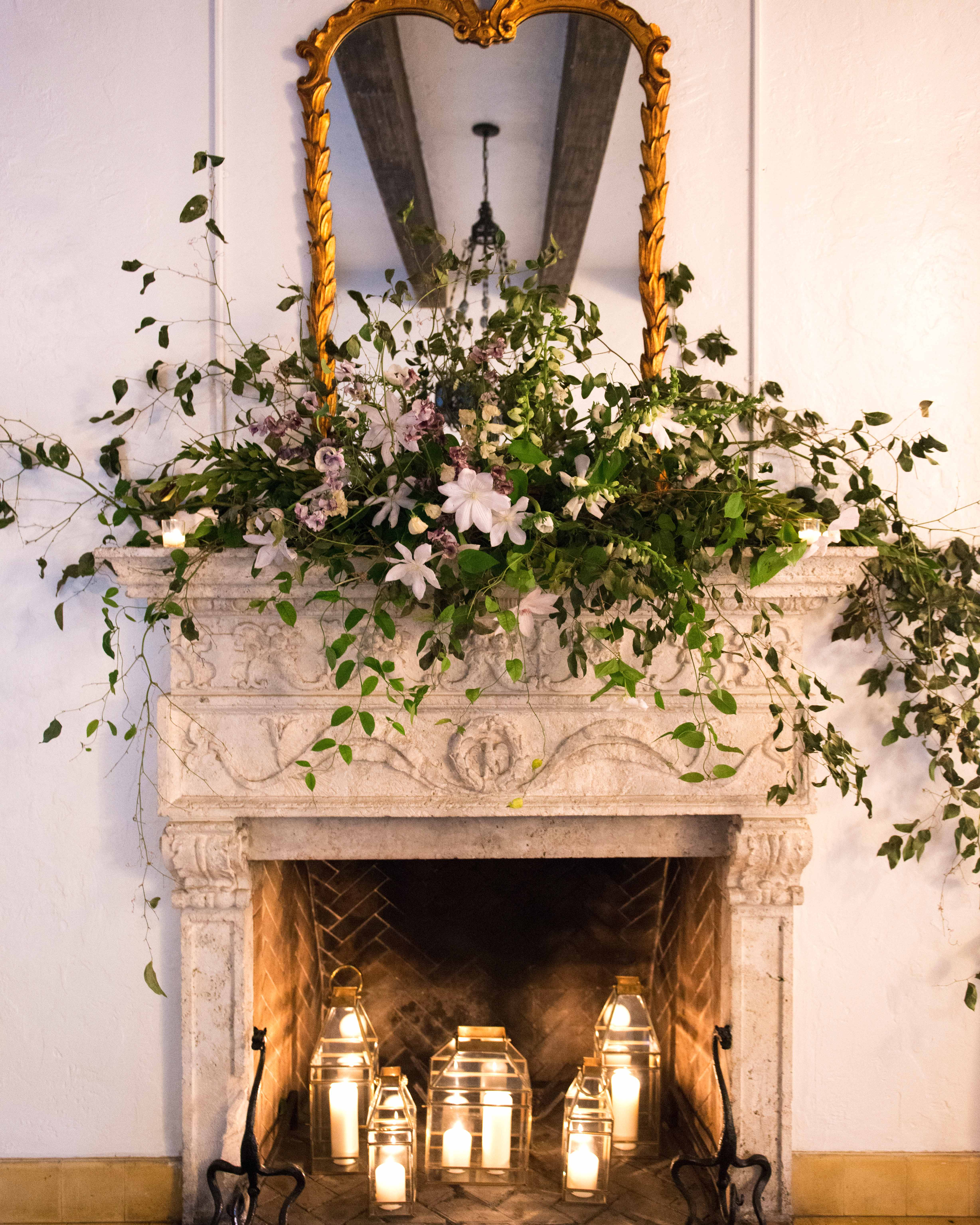 wedding fireplace