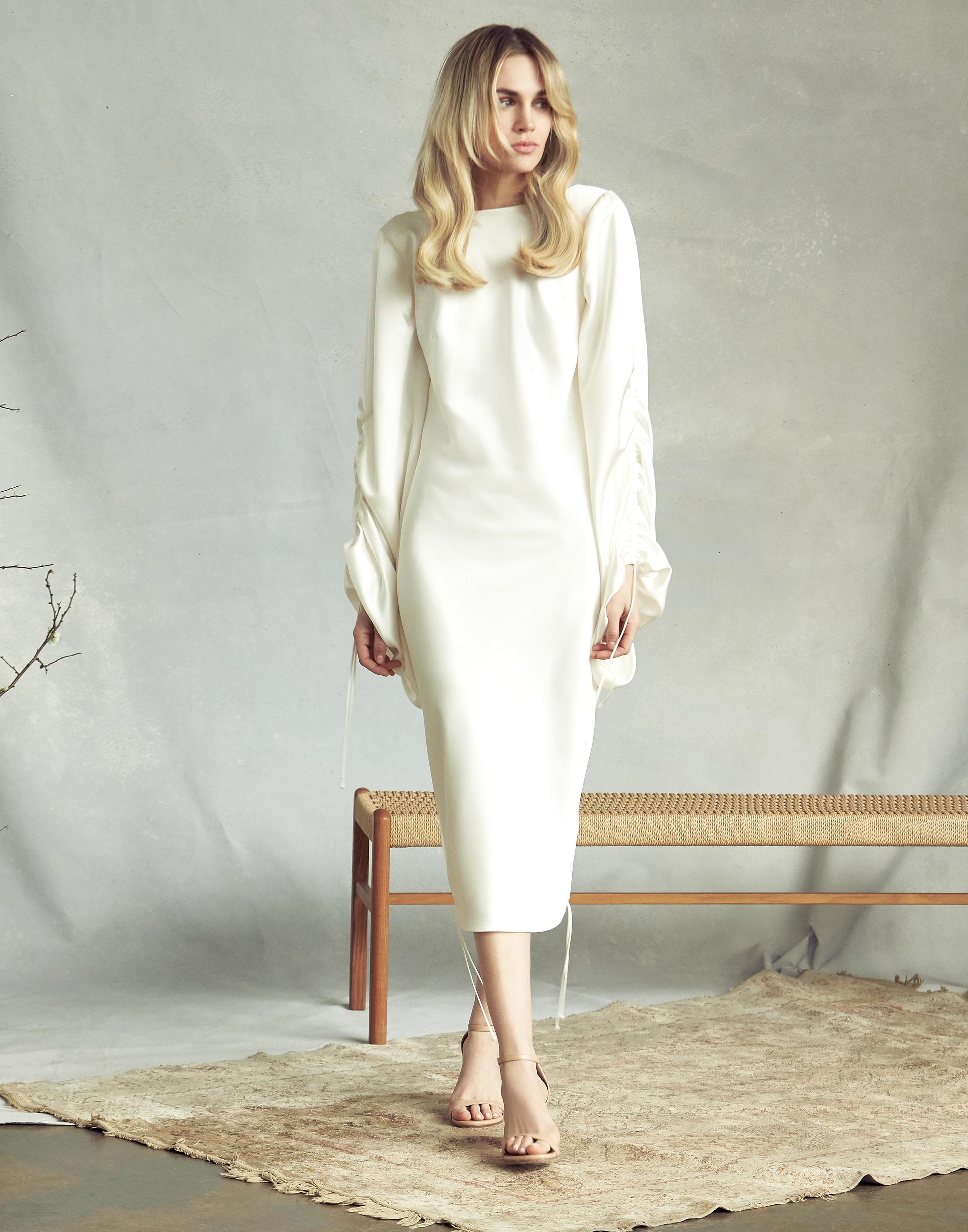 savannah miller high neck long sleeve wedding dress spring 2020