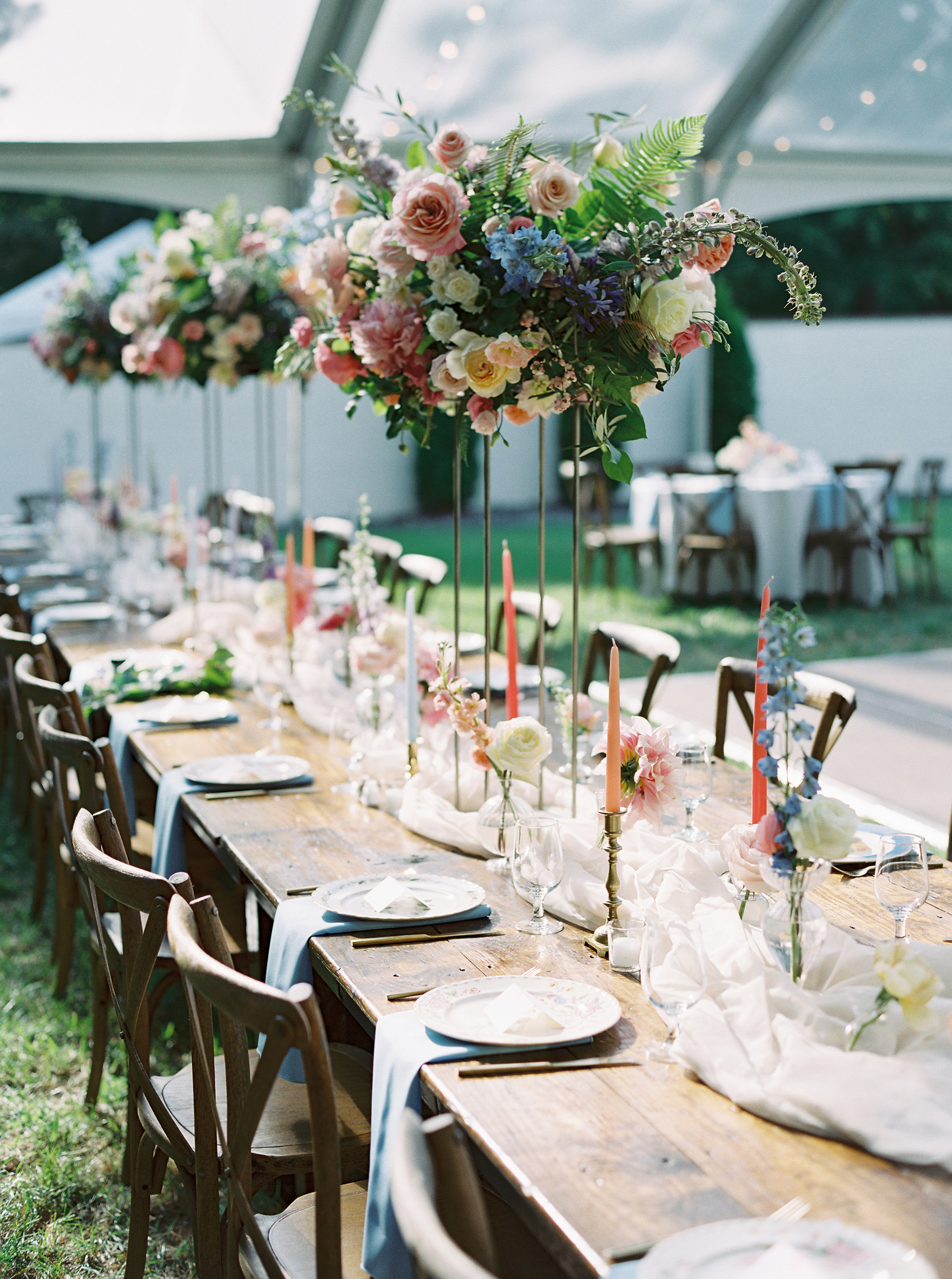 shelby preston wedding reception tables