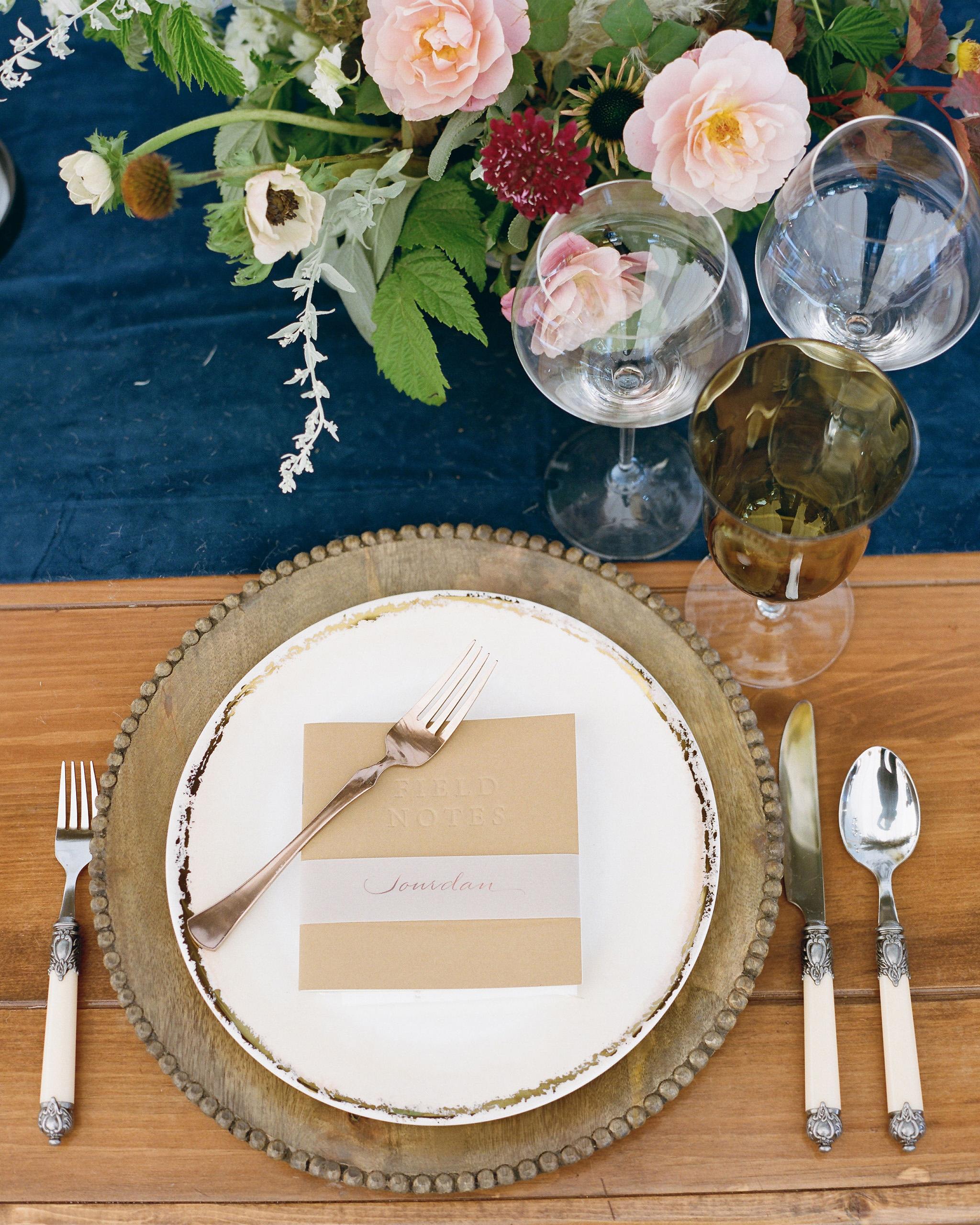 rehearsal dinner table setting